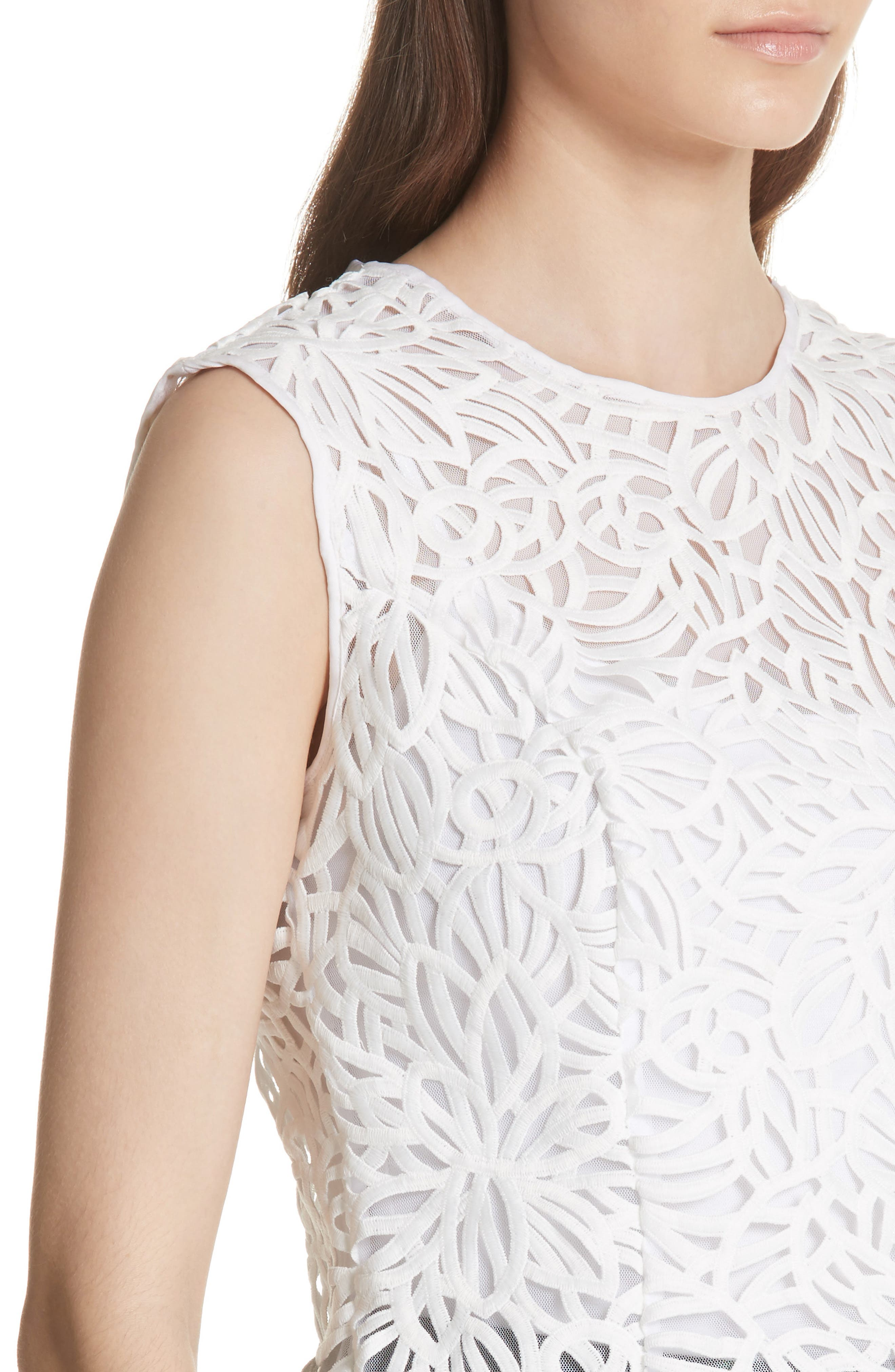 Irena Lace Top,                             Alternate thumbnail 4, color,                             White
