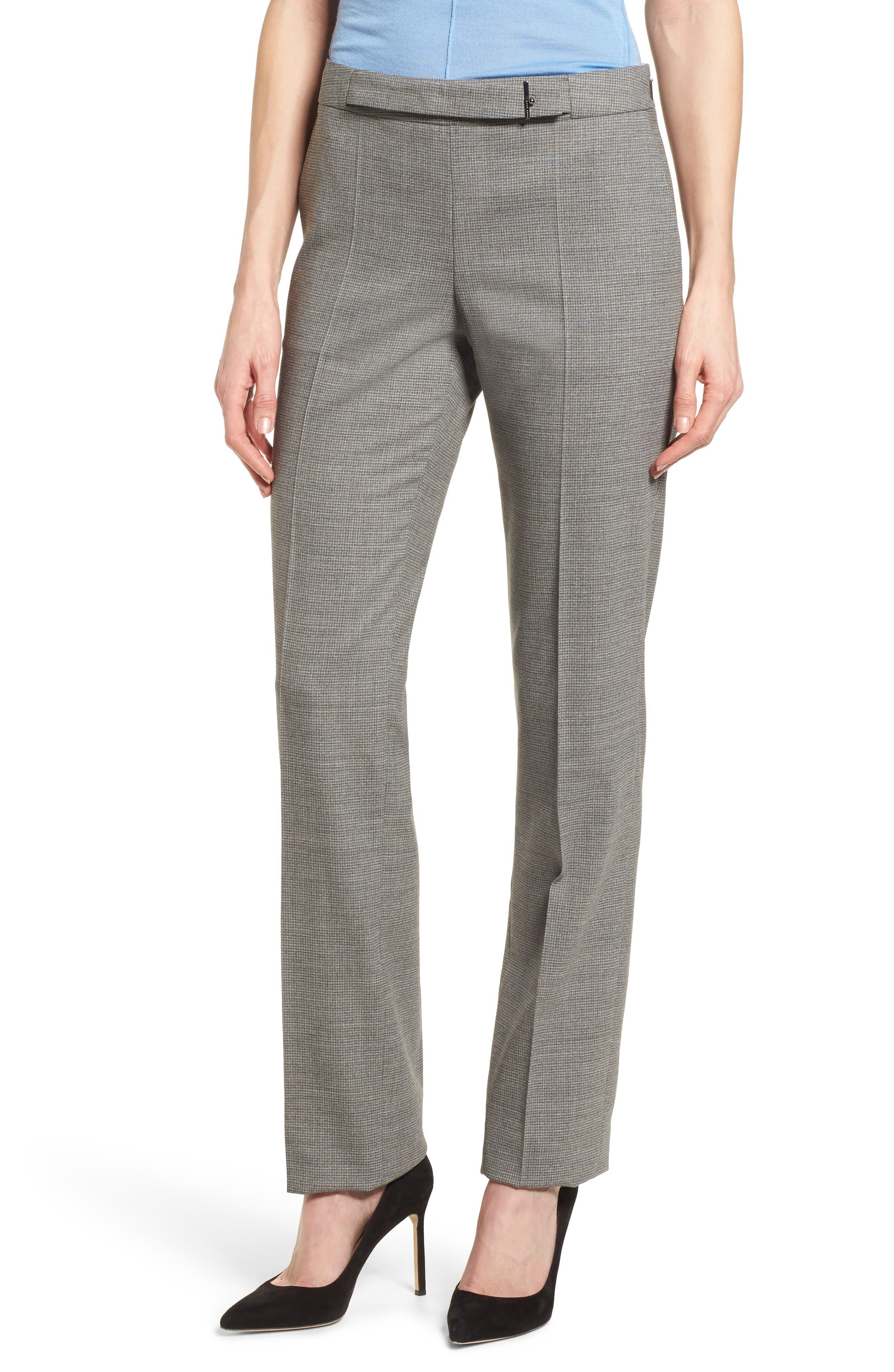 Main Image - BOSS Tafena Check Wool Suit Pants (Regular & Petite)