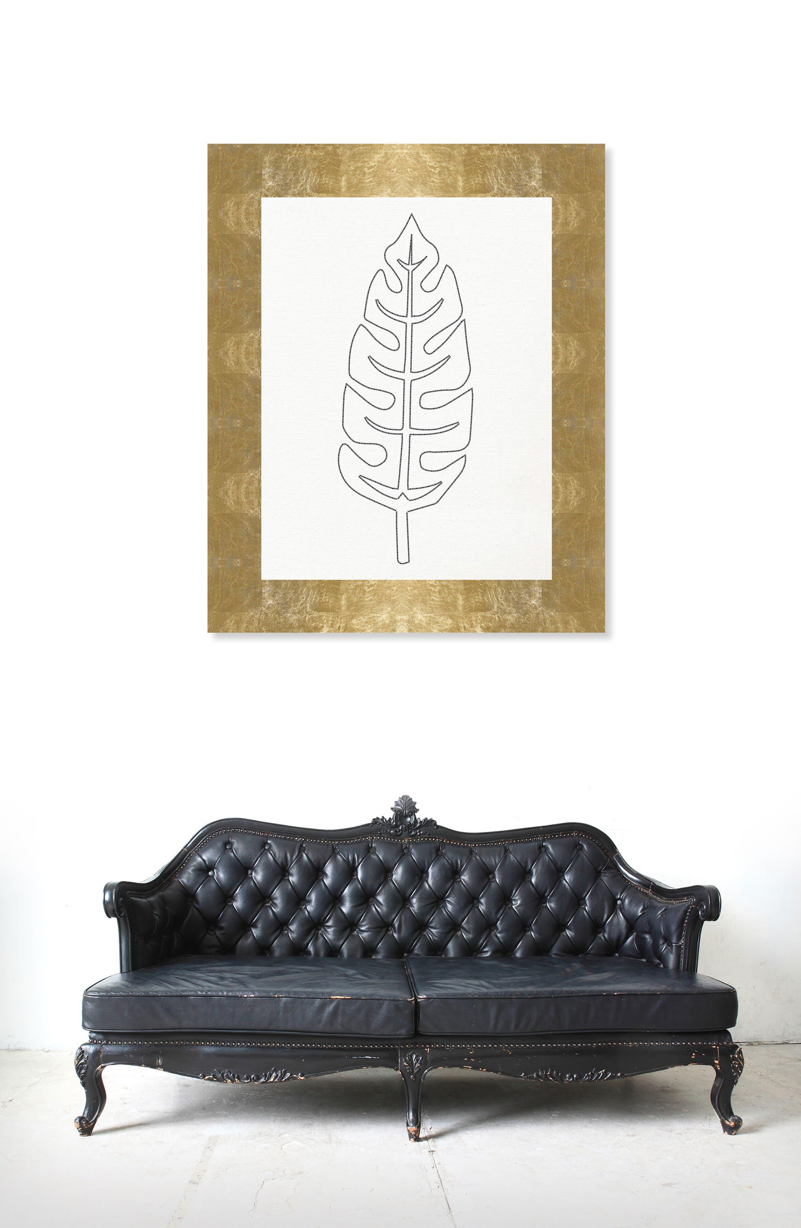 Alternate Image 2  - Oliver Gal Stitched Palm Leaf II Canvas Wall Art