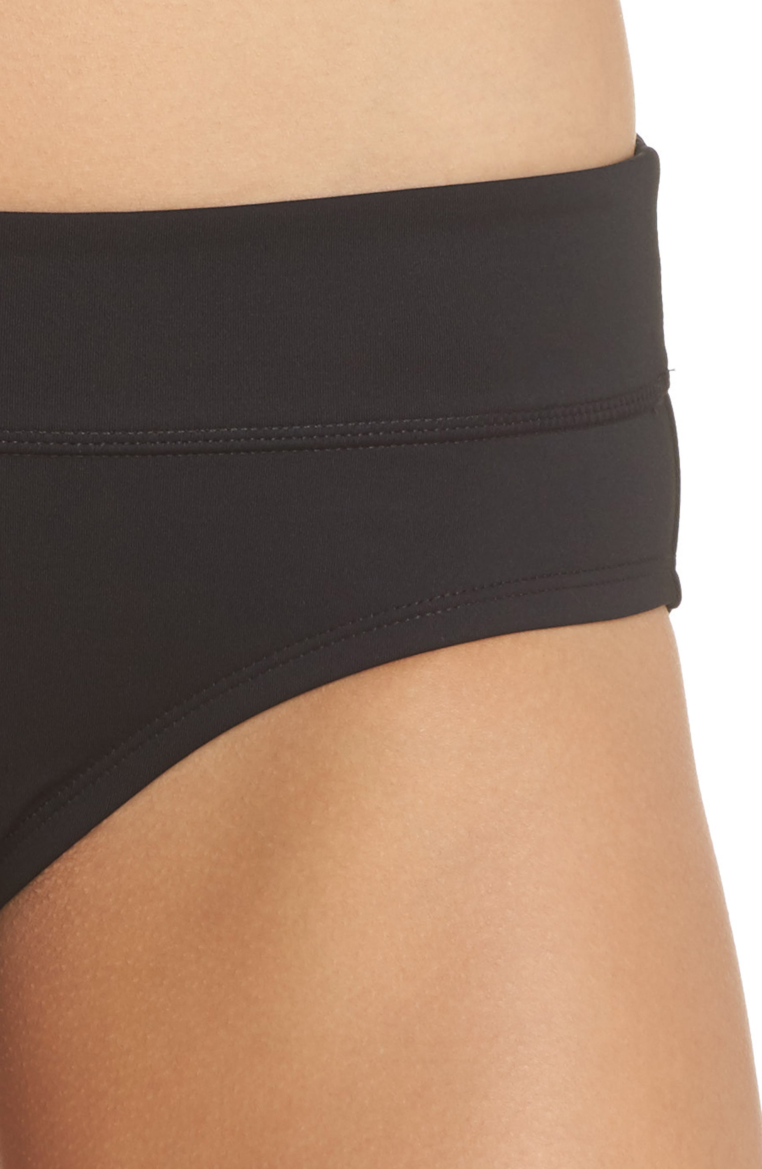 Full Bikini Bottoms,                             Alternate thumbnail 4, color,                             Black