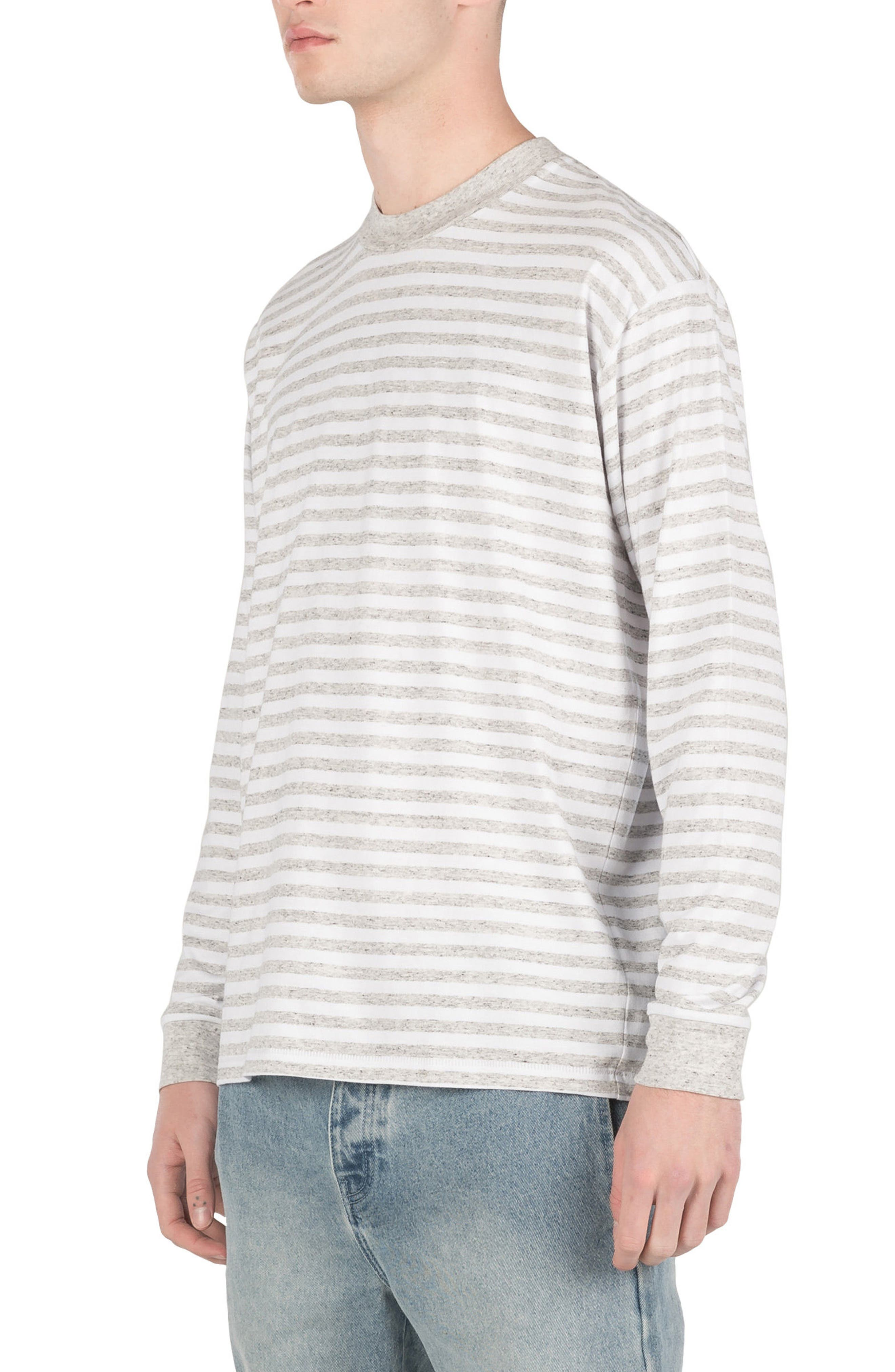 Box Long Sleeve T-Shirt,                             Alternate thumbnail 4, color,                             White/ Storm Marle