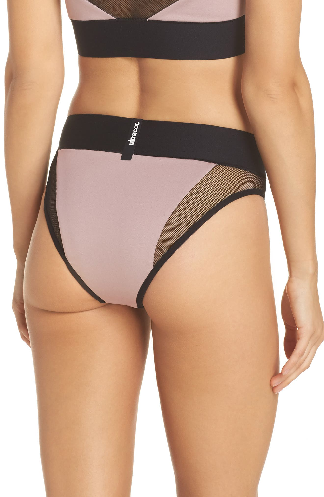 Reef Sport Mesh High-Waist Bikini Bottoms,                             Alternate thumbnail 2, color,                             Blush Pink