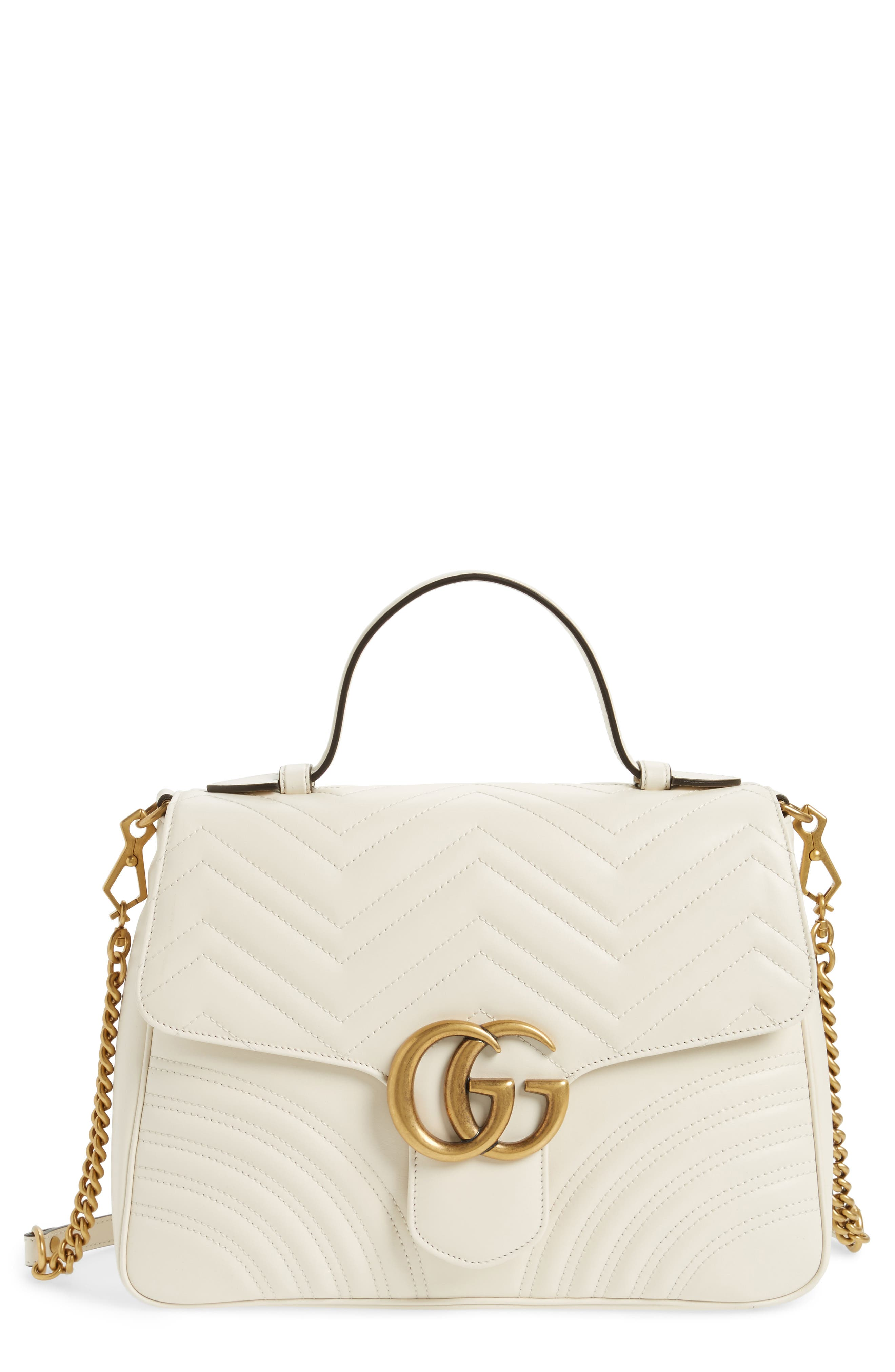Alternate Image 1 Selected - Gucci Medium GG Marmont 2.0 Matelassé Leather Top Handle Bag