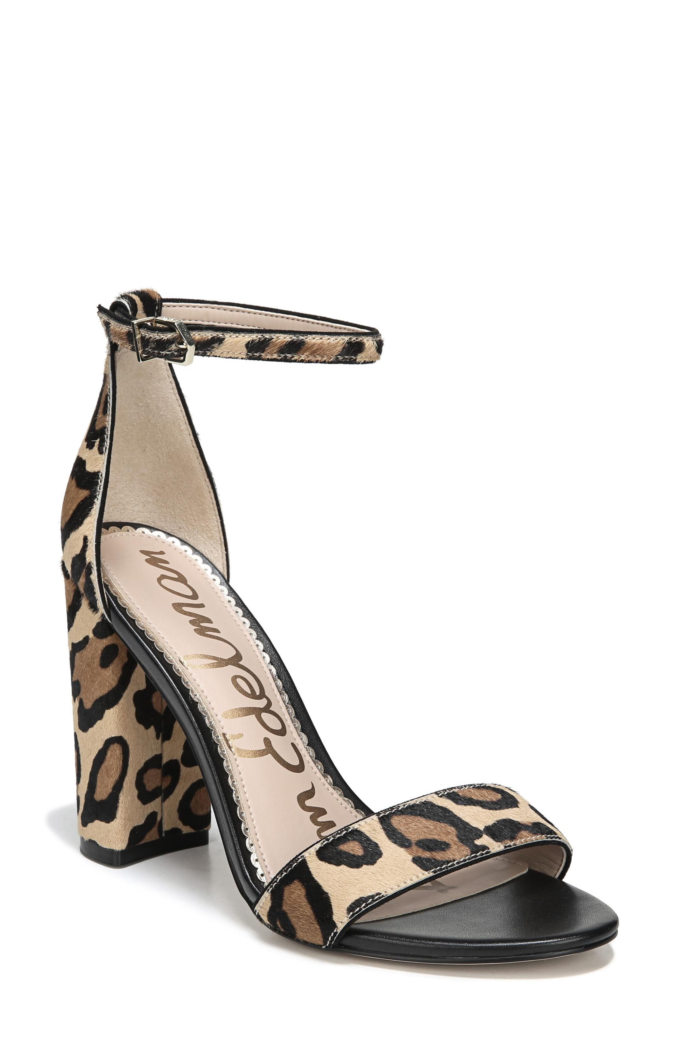 Yaro Ankle Strap Sandal,                             Main thumbnail 1, color,                             New Nude Leopard Calf Hair