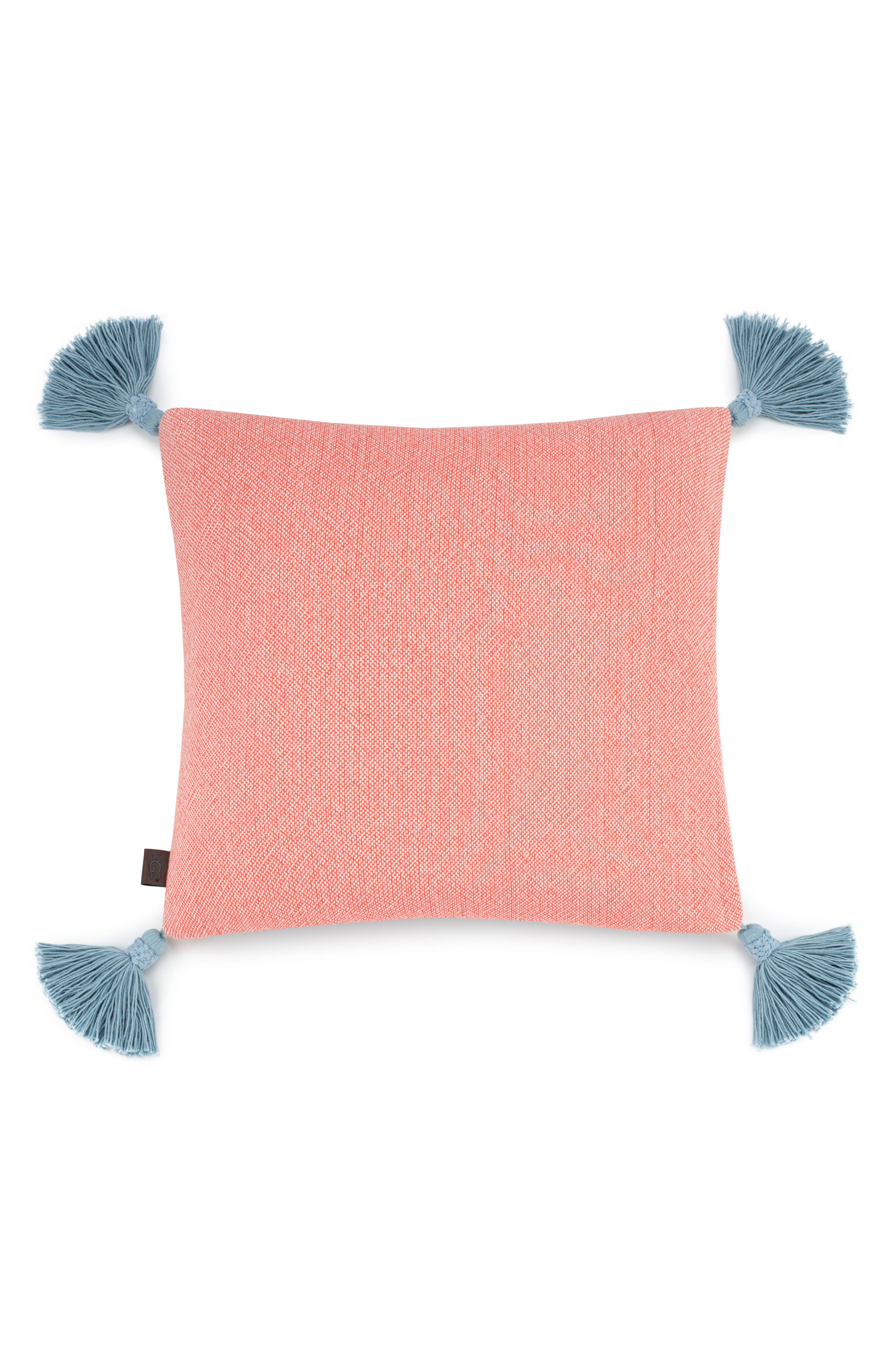 Skylar Accent Pillow,                         Main,                         color, Vibrant Coral