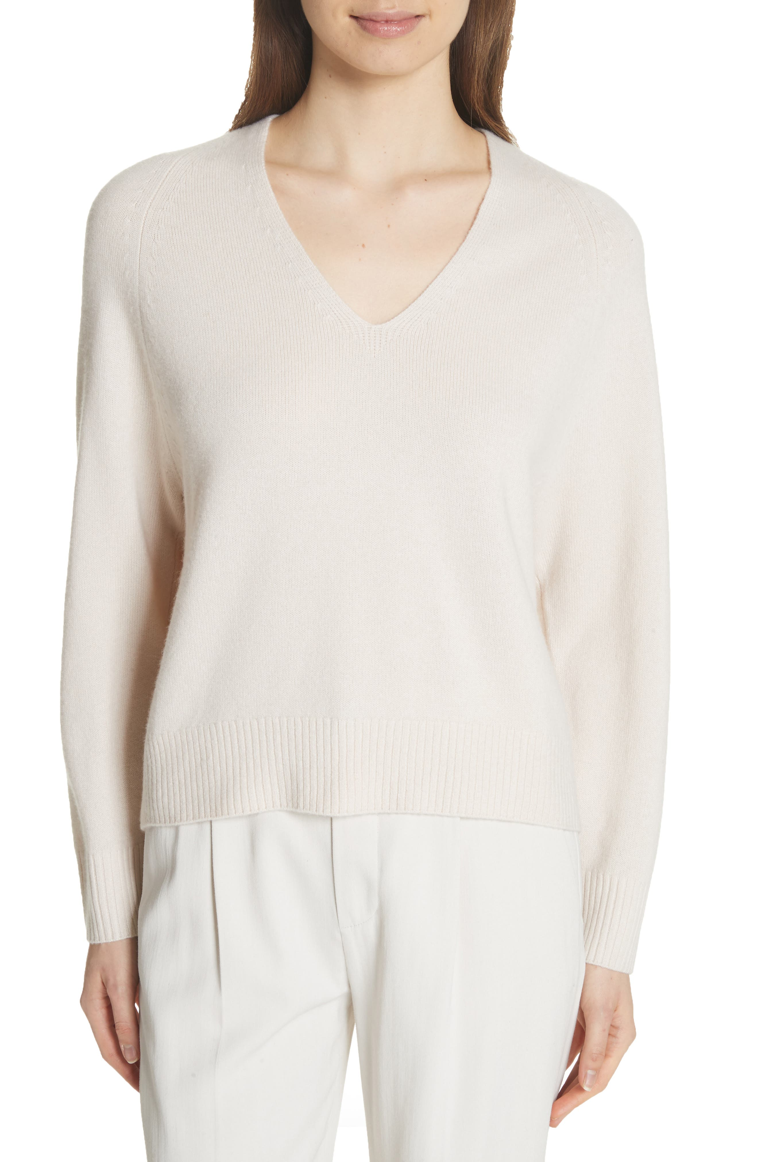 Cashmere Raglan Sleeve Sweater,                             Main thumbnail 1, color,                             Sandstone
