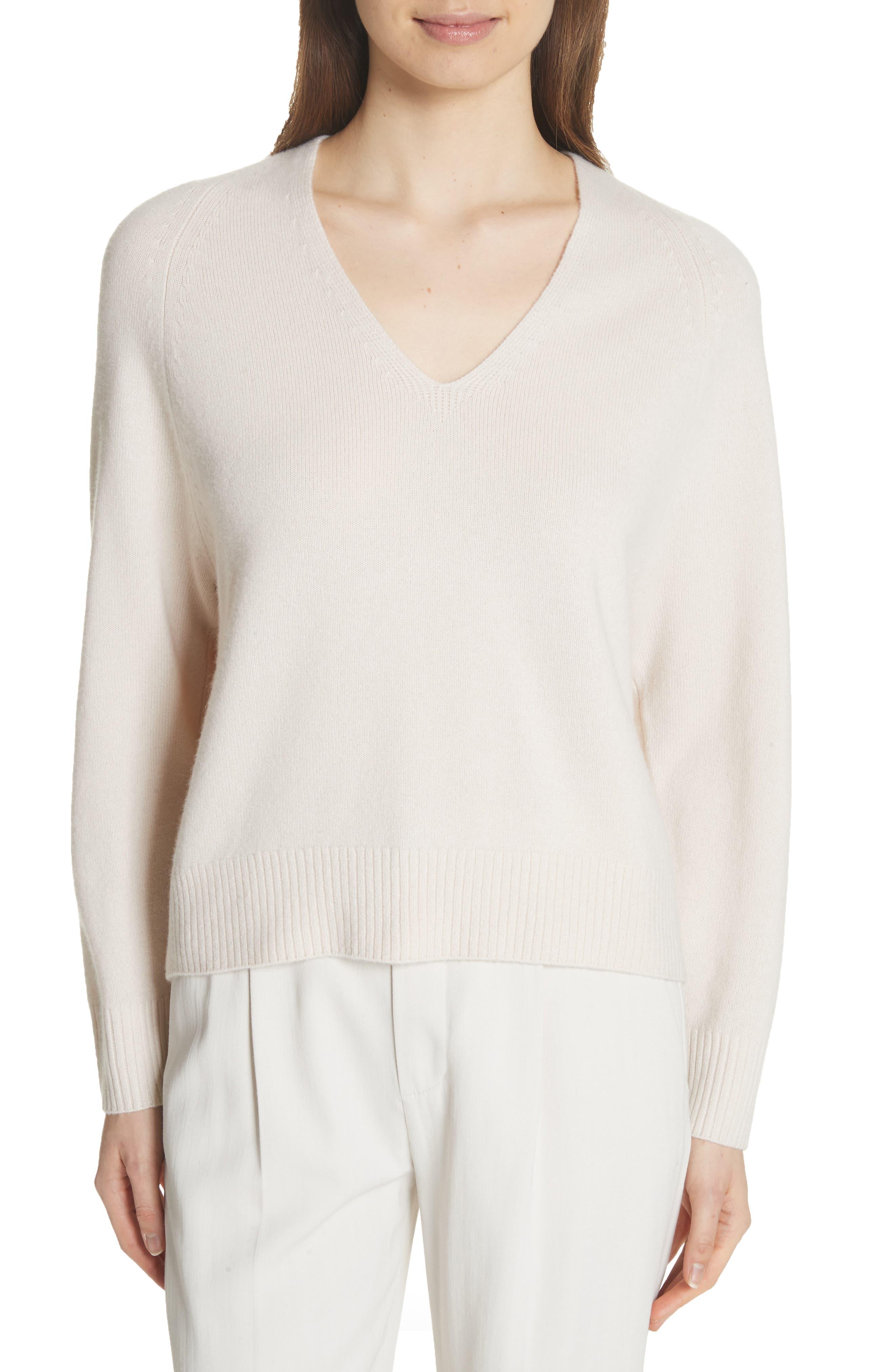 Cashmere Raglan Sleeve Sweater,                         Main,                         color, Sandstone