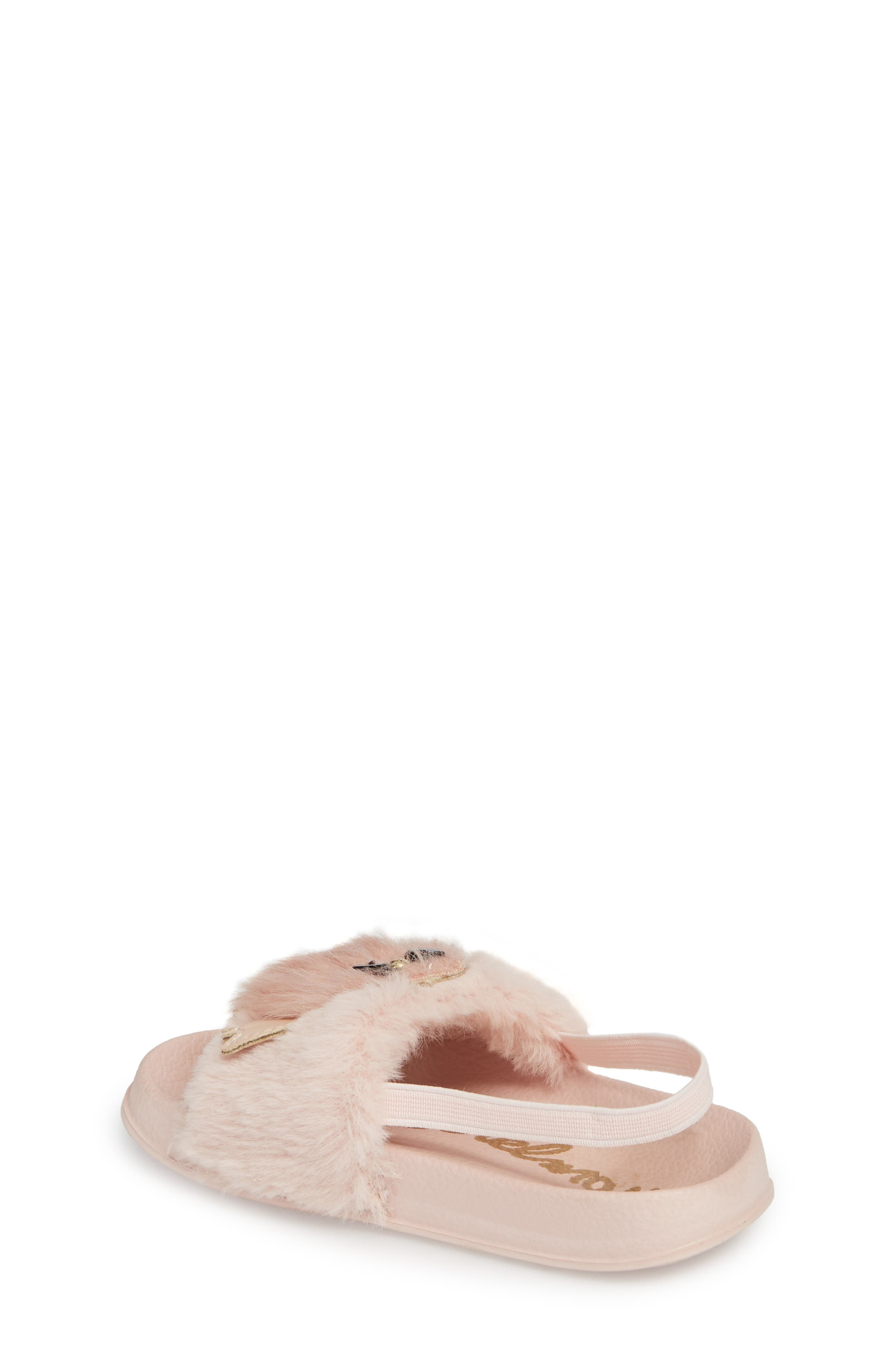 Alternate Image 2  - Sam Edelman Mackie Faux Fur Sandal (Walker & Toddler)