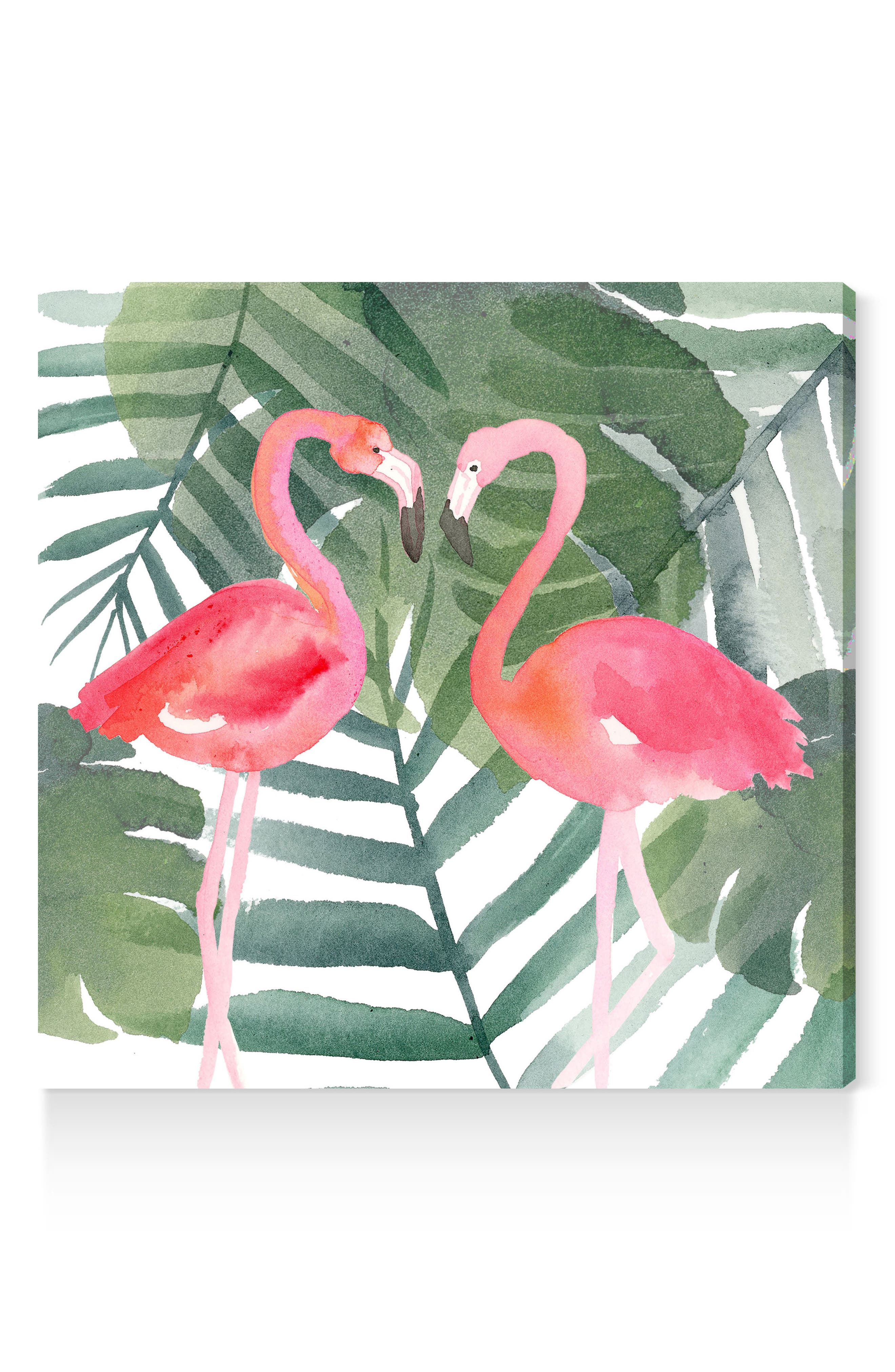 Pinkest Love Canvas Wall Art,                         Main,                         color, Green