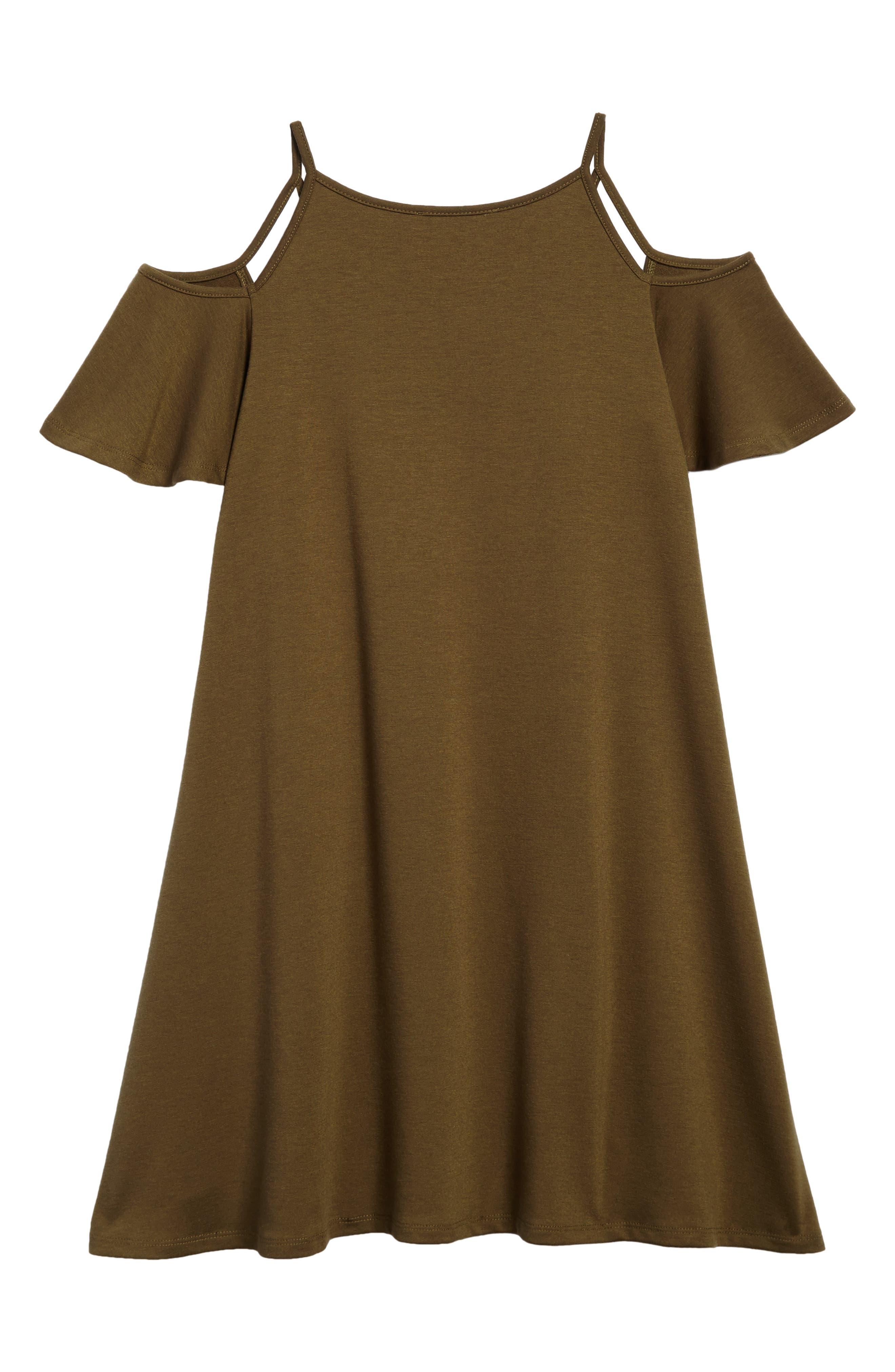 Alternate Image 2  - Miss Behave Cold Shoulder Dress (Big Girls)