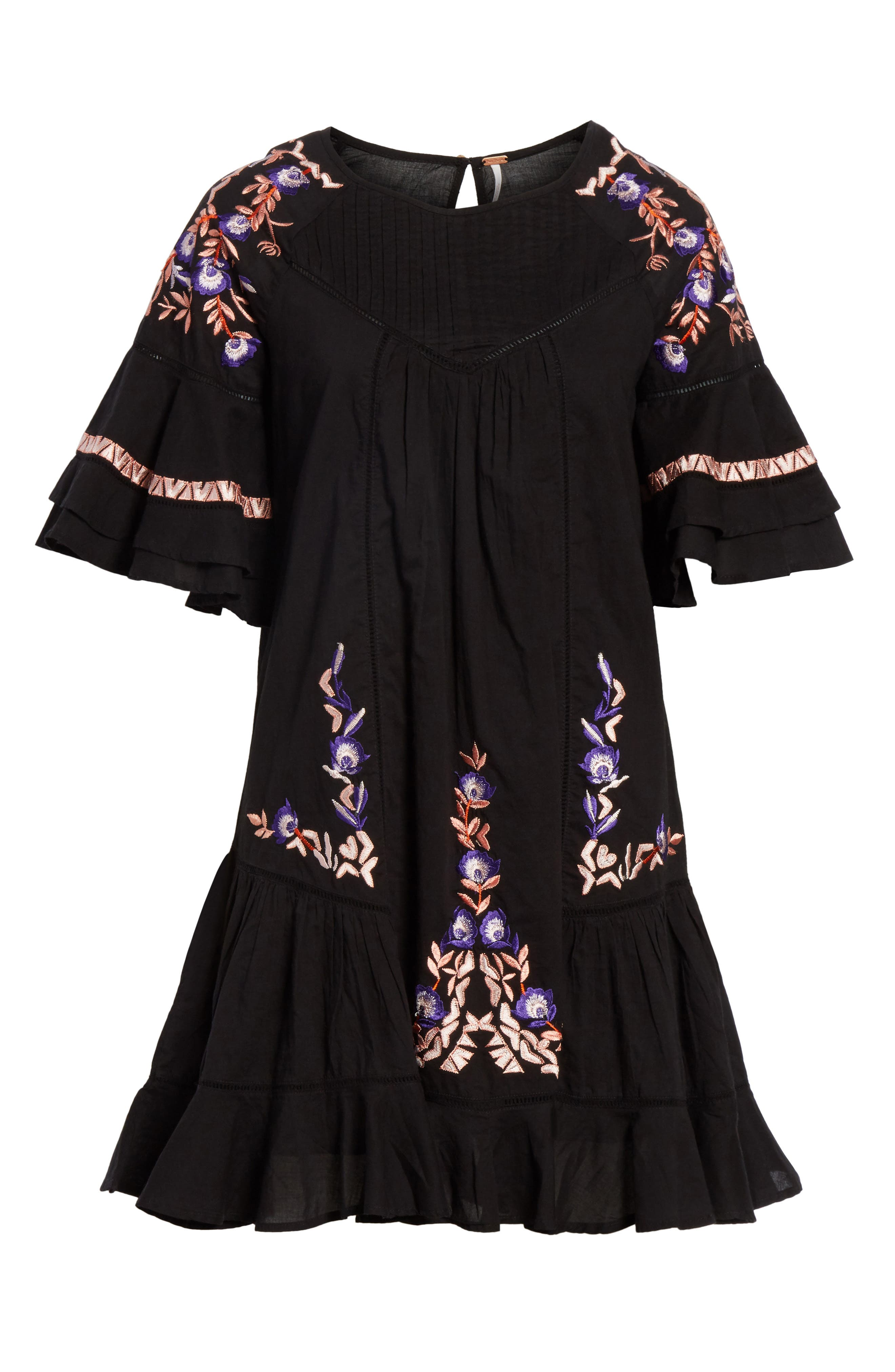 Pavlo Babydoll Dress,                             Alternate thumbnail 7, color,                             Black