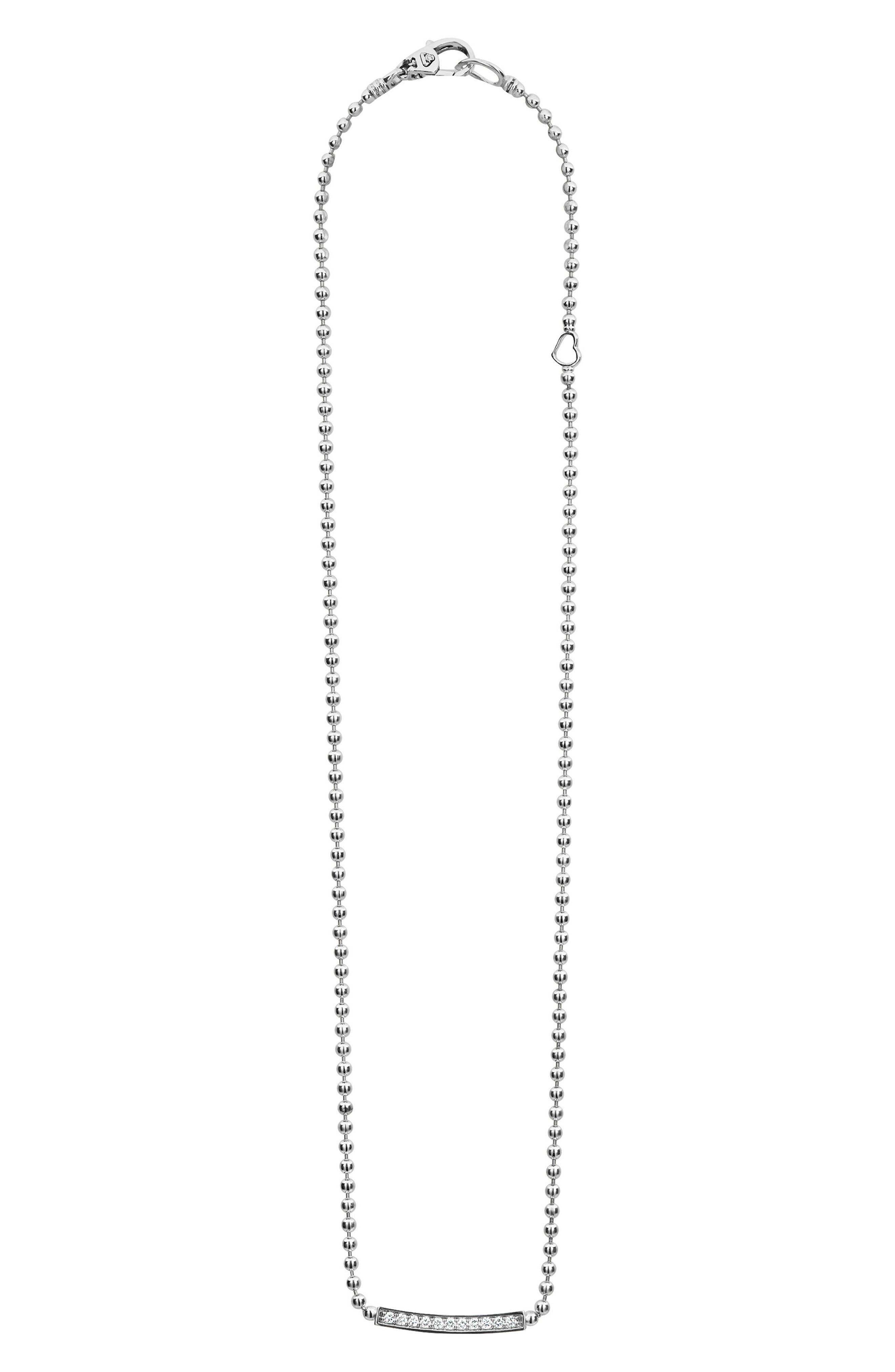 LAGOS Caviar Spark Diamond Pendant Necklace