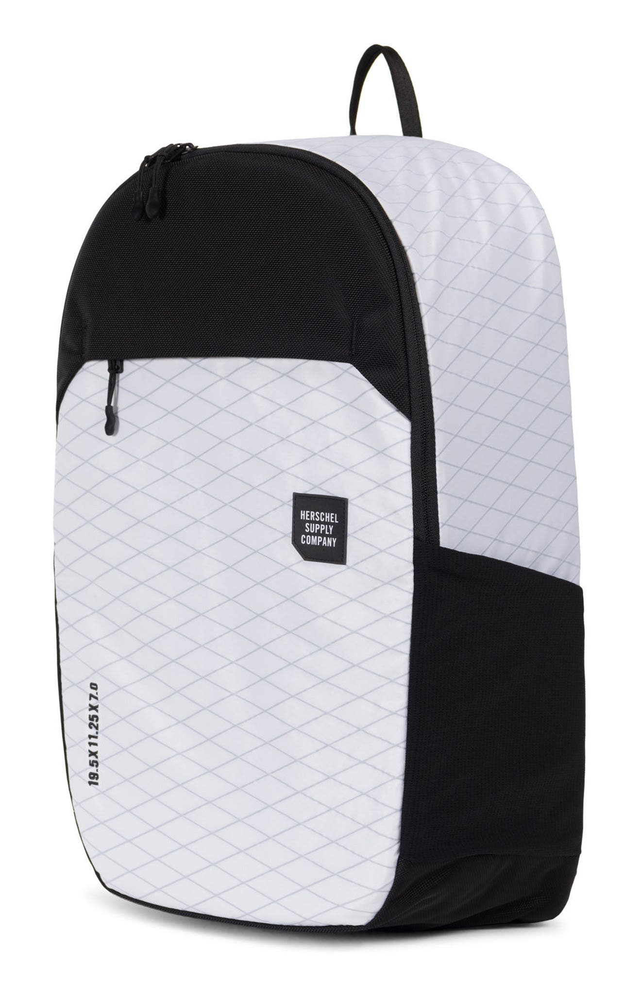 Trail Sailcloth Mammoth Large Backpack,                             Alternate thumbnail 5, color,                             White/ Black