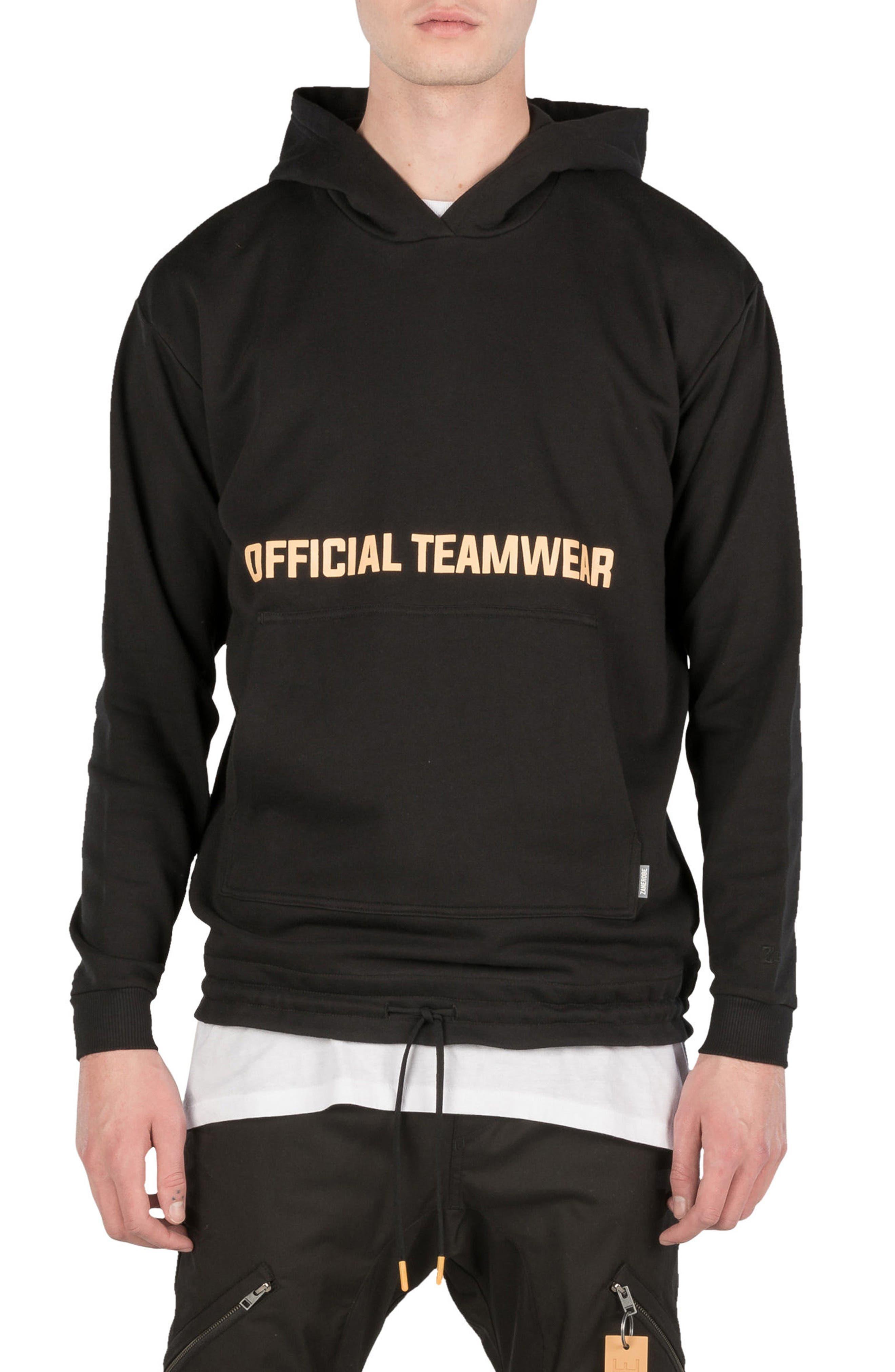 Teamwear Box Hoodie Sweatshirt,                             Main thumbnail 1, color,                             Black