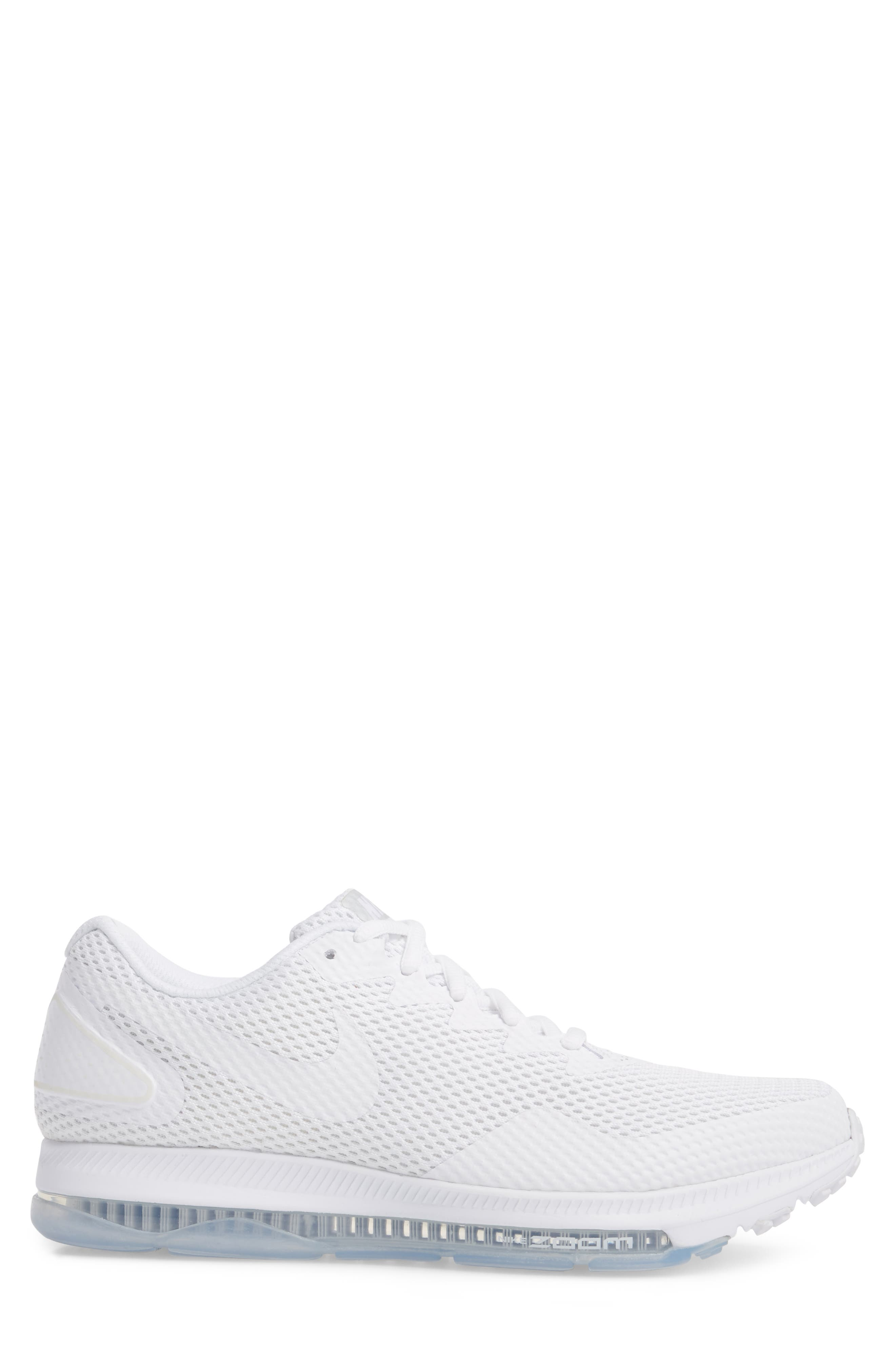 Zoom All Out Low 2 Running Shoe,                             Alternate thumbnail 3, color,                             White/ White/ Off White