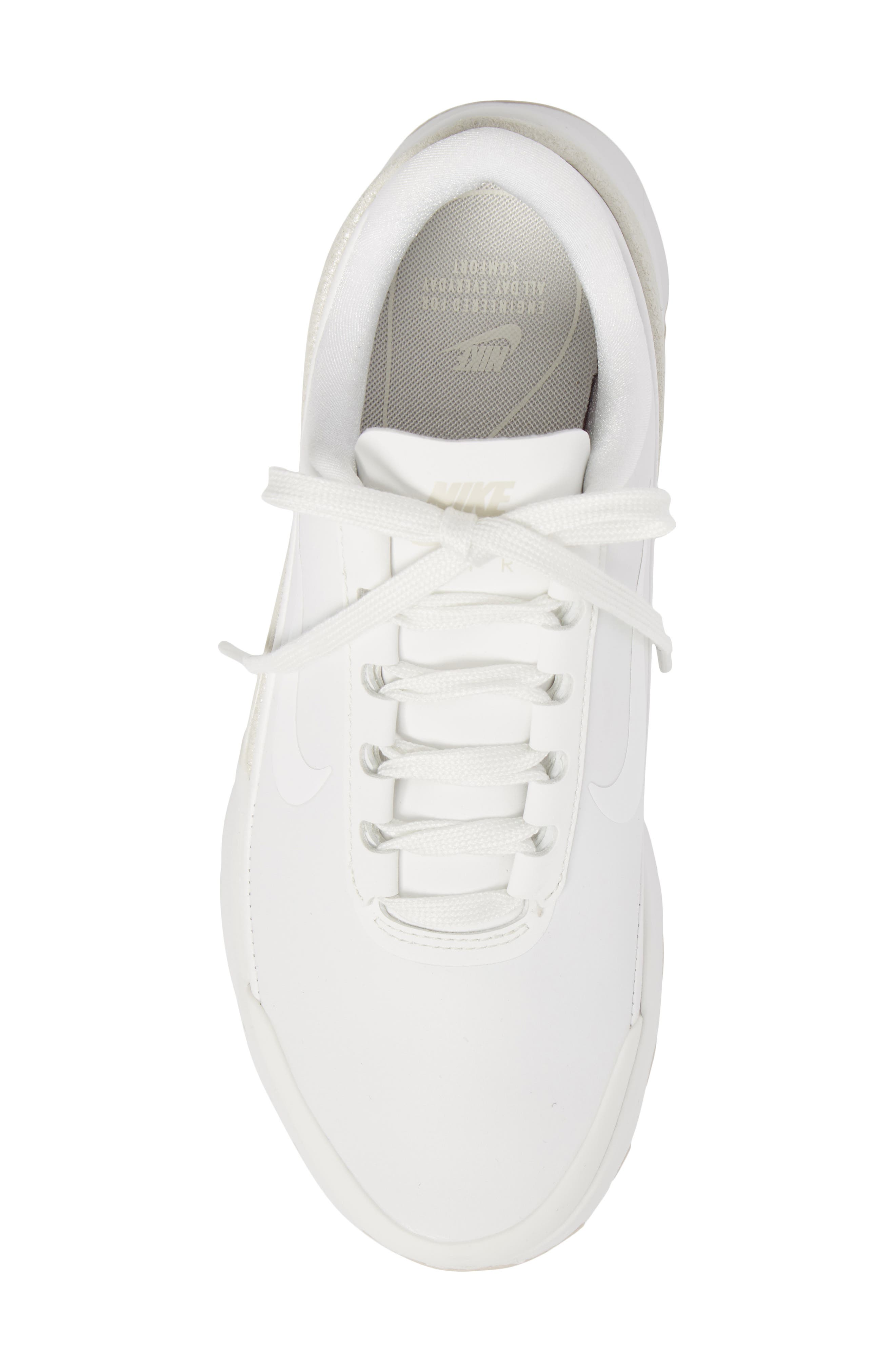 Air Max Jewell Sneaker,                             Alternate thumbnail 5, color,                             Summit White/ Summit White