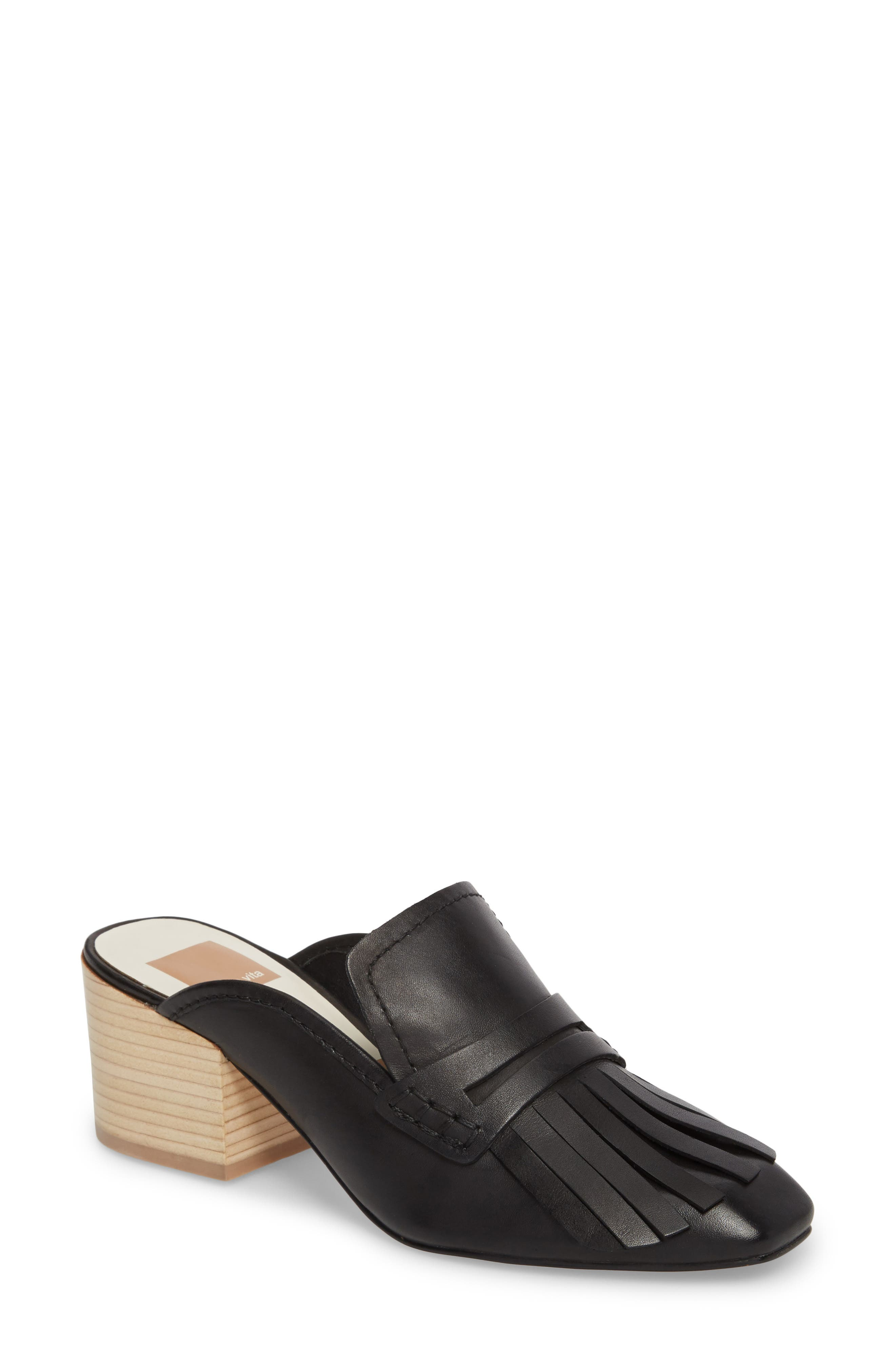 Katina Mule,                         Main,                         color, Black Leather