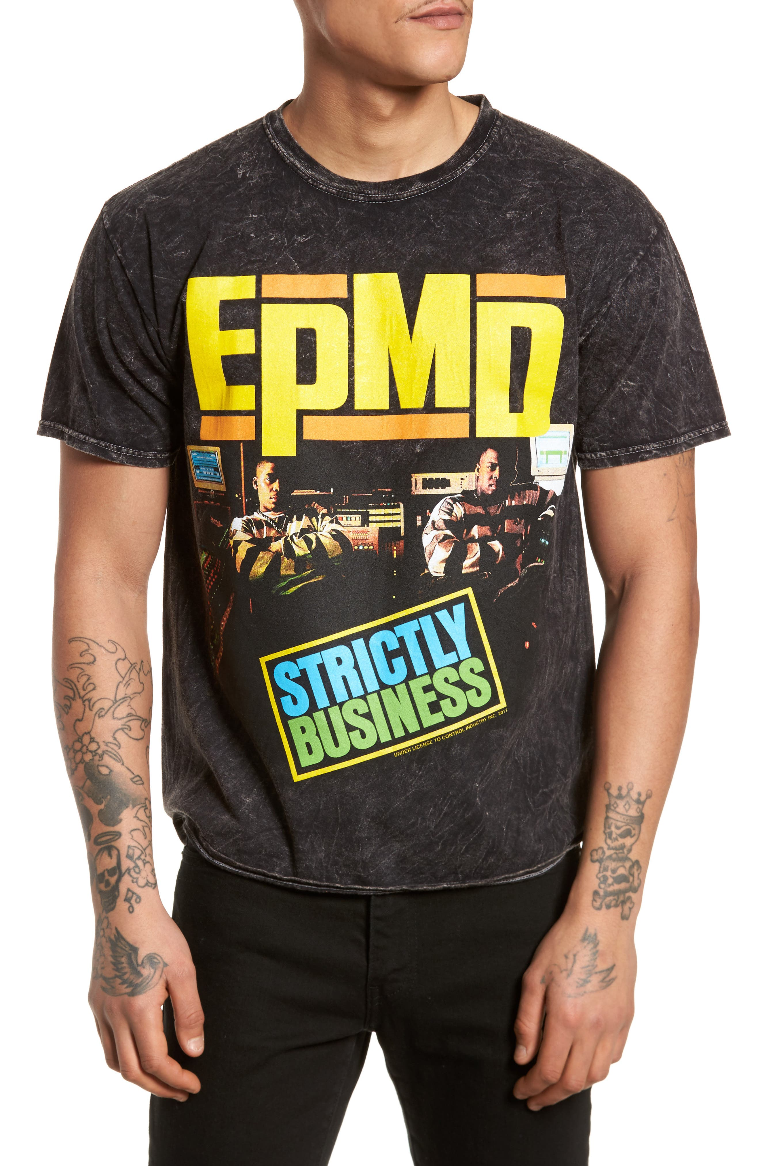 EPMD T-Shirt,                         Main,                         color, Grey Charcoal Epmd