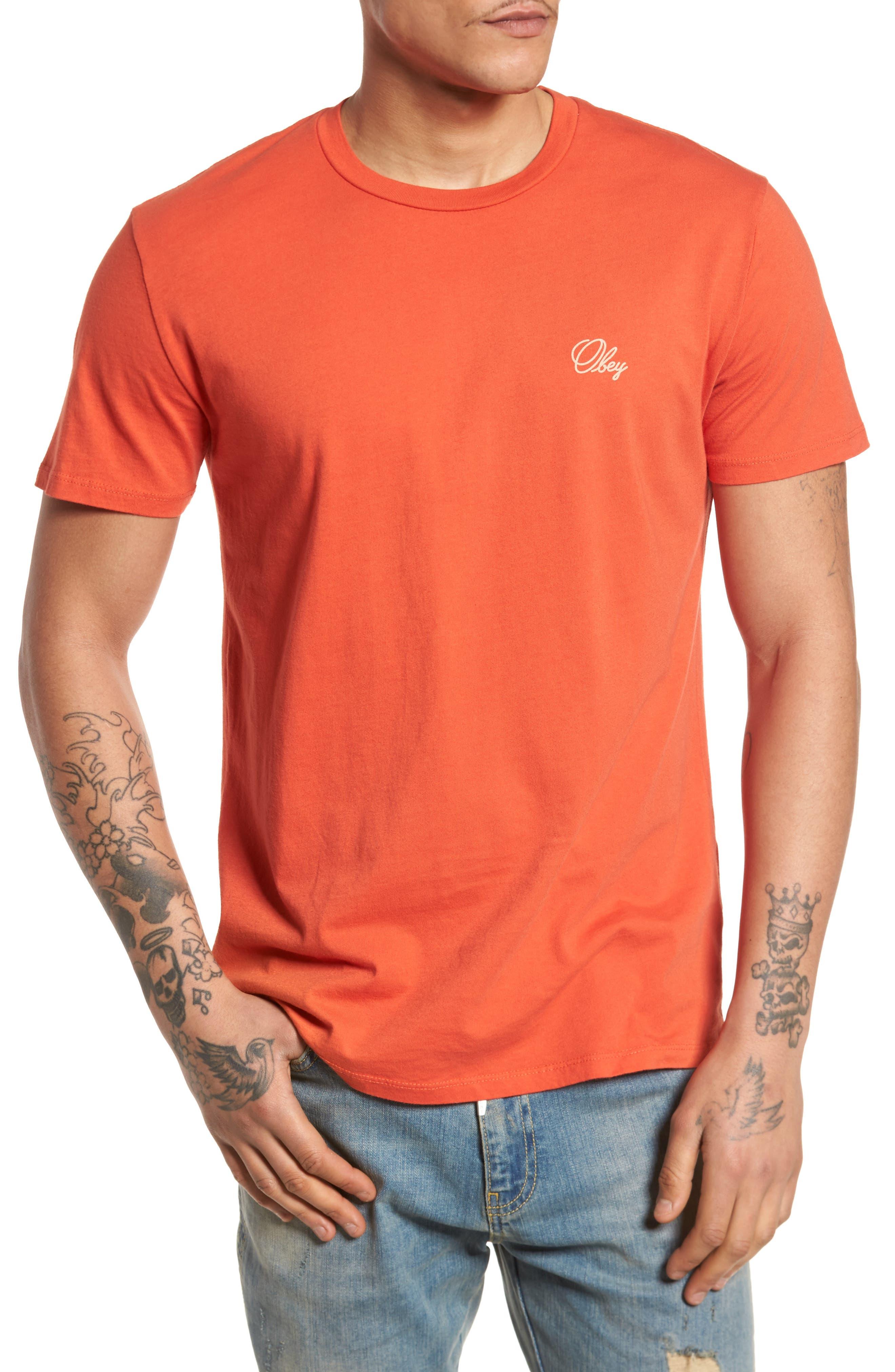 Old Script Superior T-Shirt,                         Main,                         color, Paprika