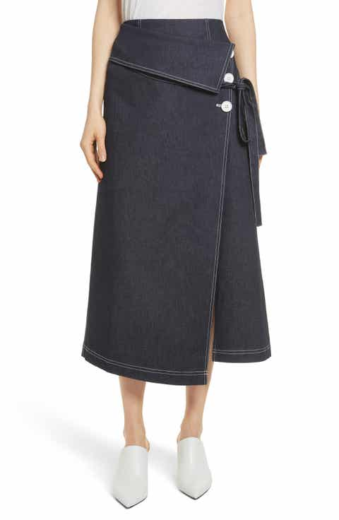 Robert Rodriguez Contrast Stitch Denim Skirt Reviews