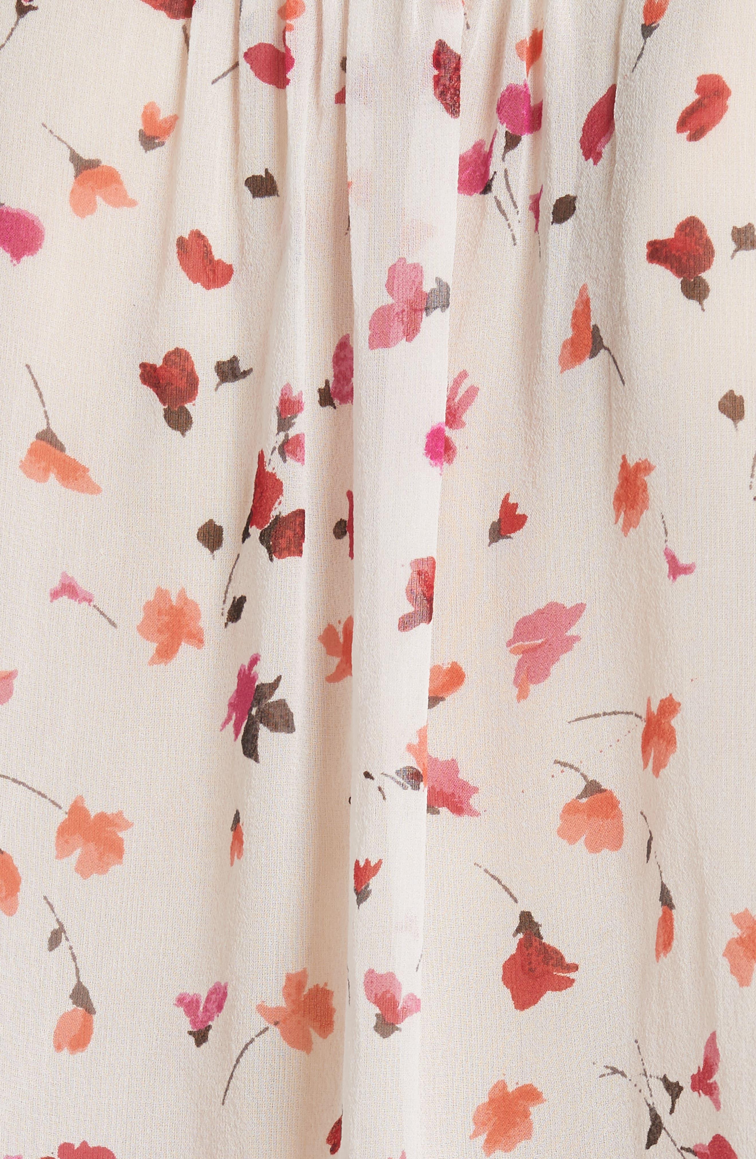 Gontilda Floral Silk Blouse,                             Alternate thumbnail 5, color,                             Porcelain
