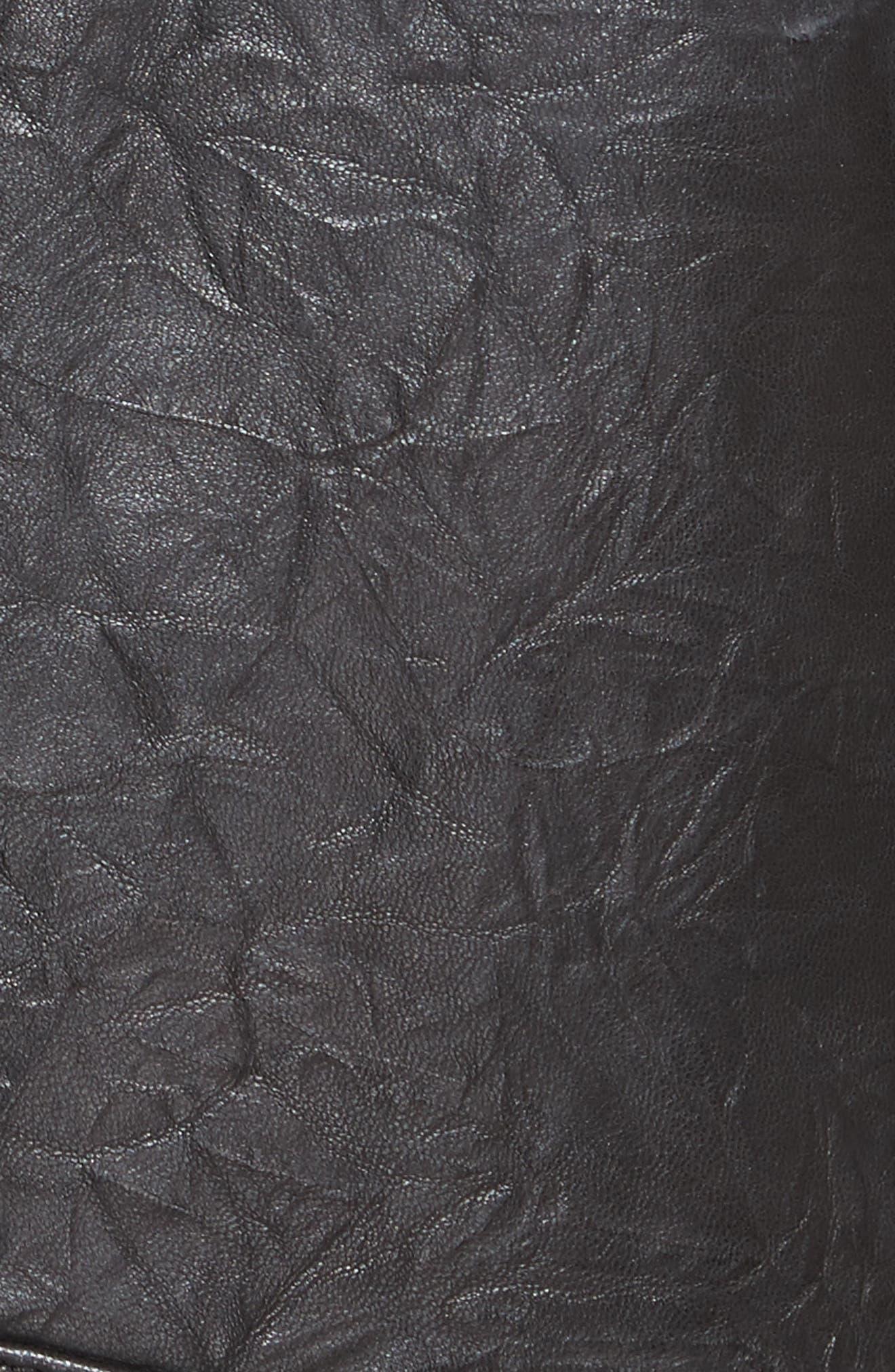 Kameke Viva La Femme Lambskin Leather Jacket,                             Alternate thumbnail 6, color,                             Caviar