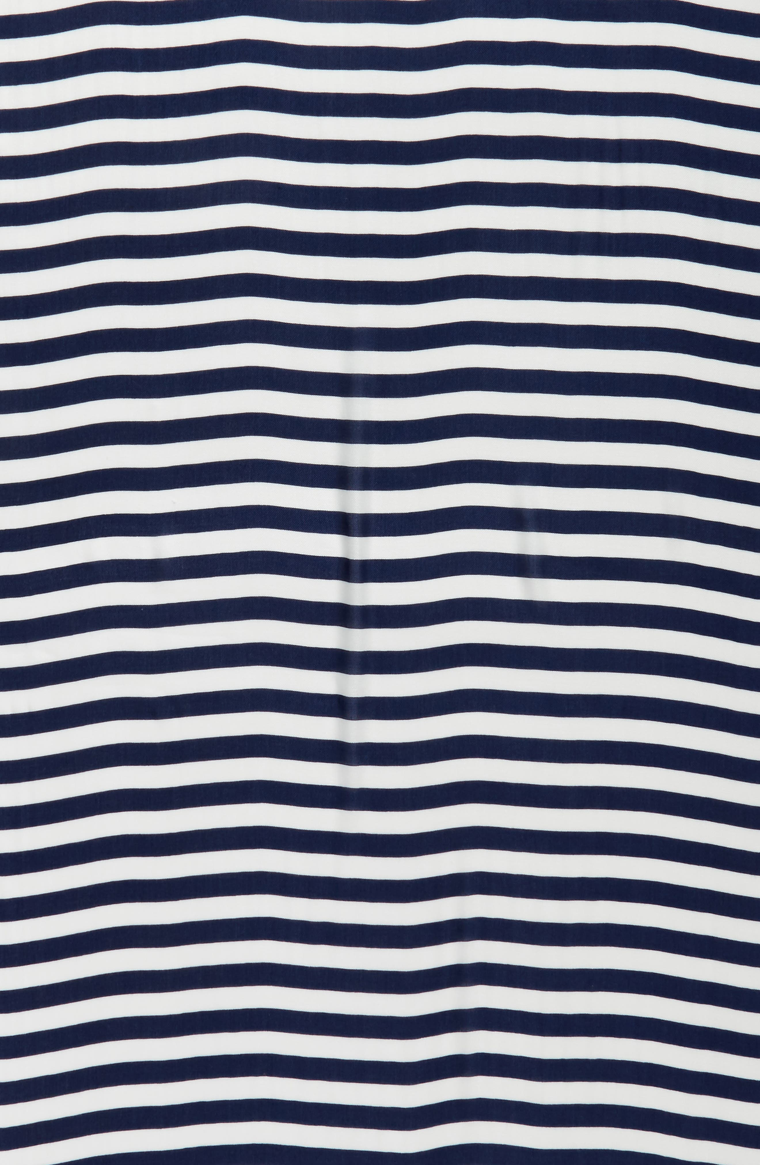 hanging crab stripe scarf,                             Alternate thumbnail 4, color,                             French Navy