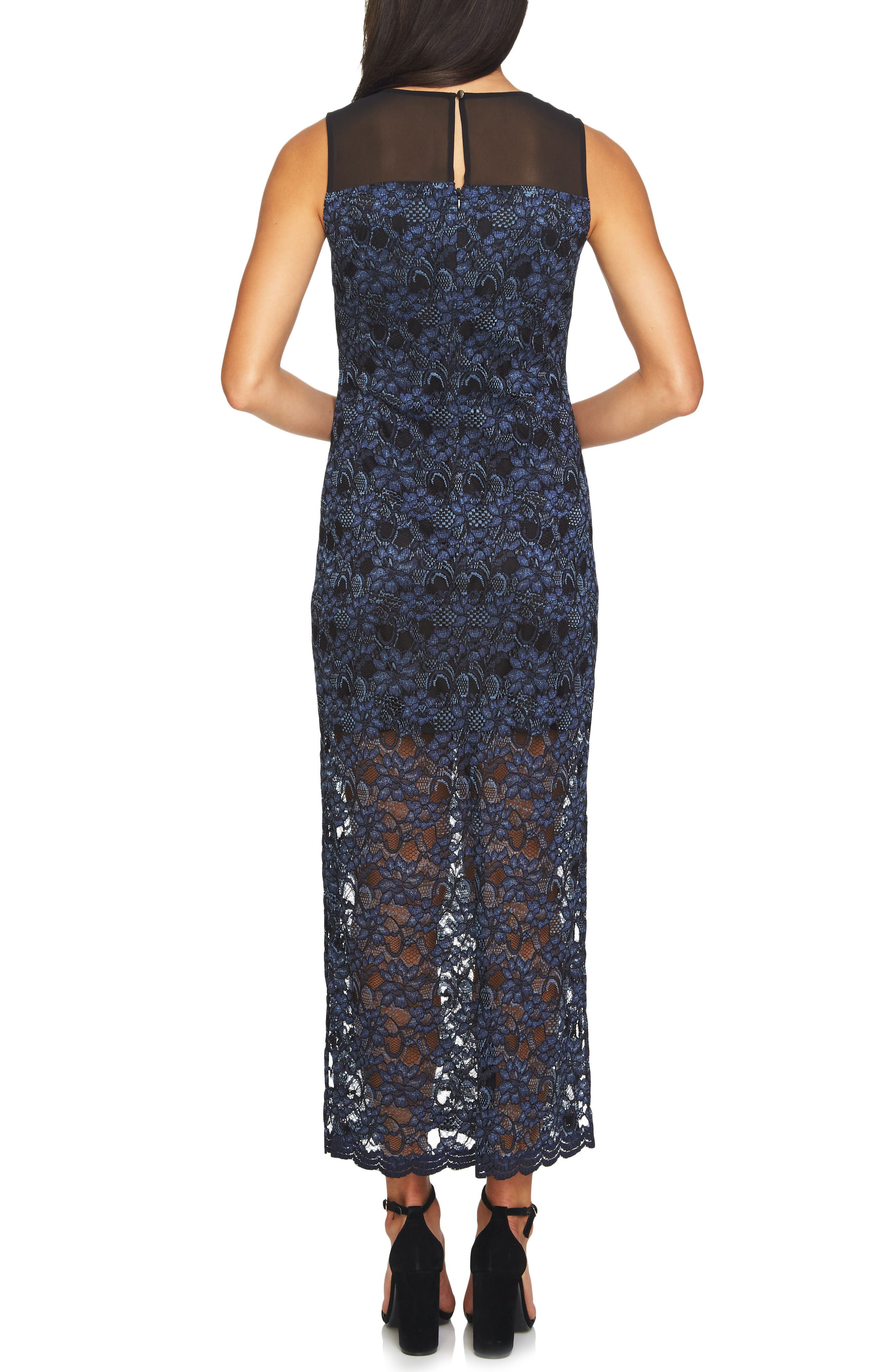 Mary Lace Maxi Dress,                             Alternate thumbnail 3, color,                             Rich Black