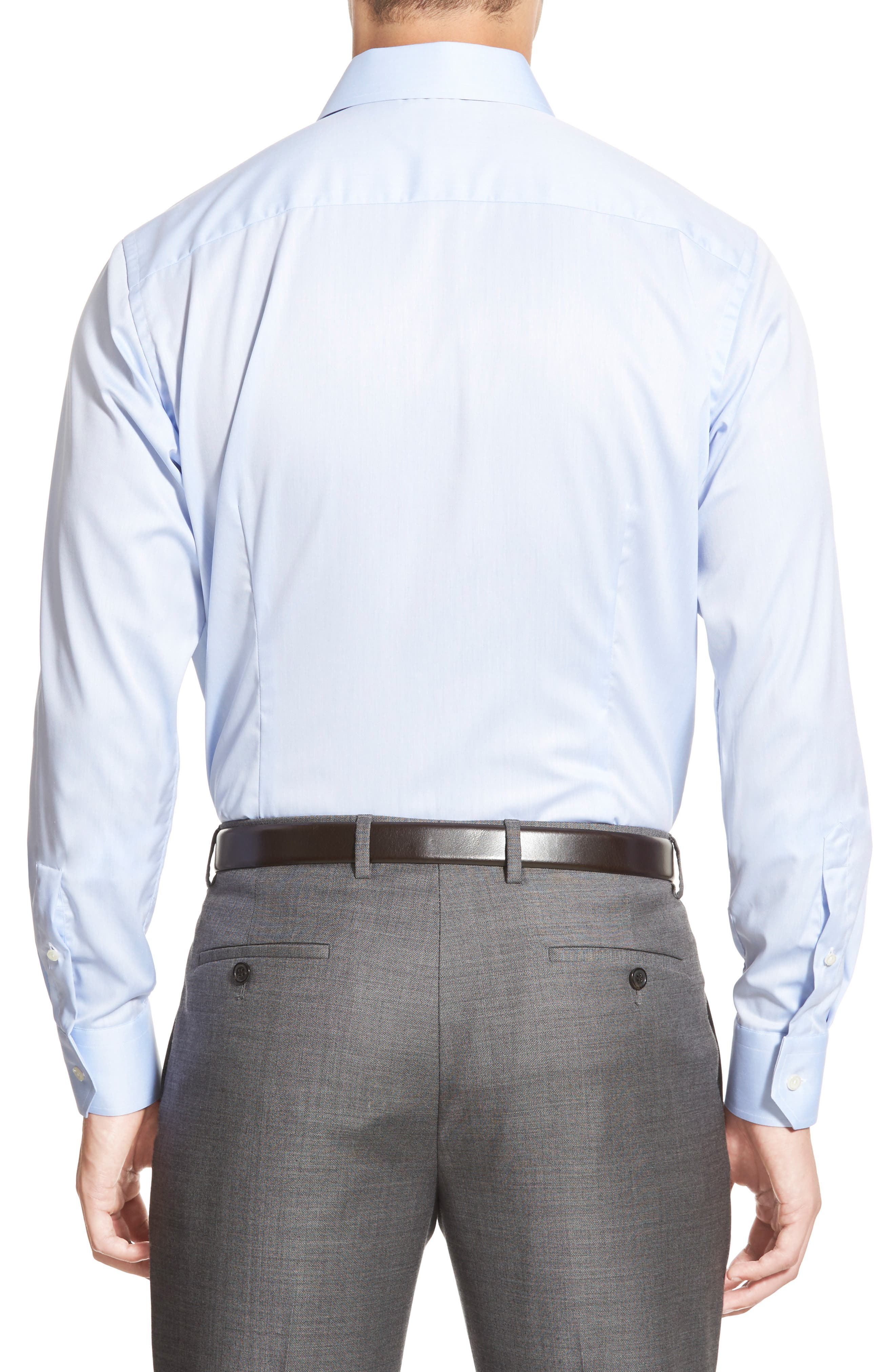 Contemporary Fit Twill Dress Shirt,                             Alternate thumbnail 2, color,                             Blue