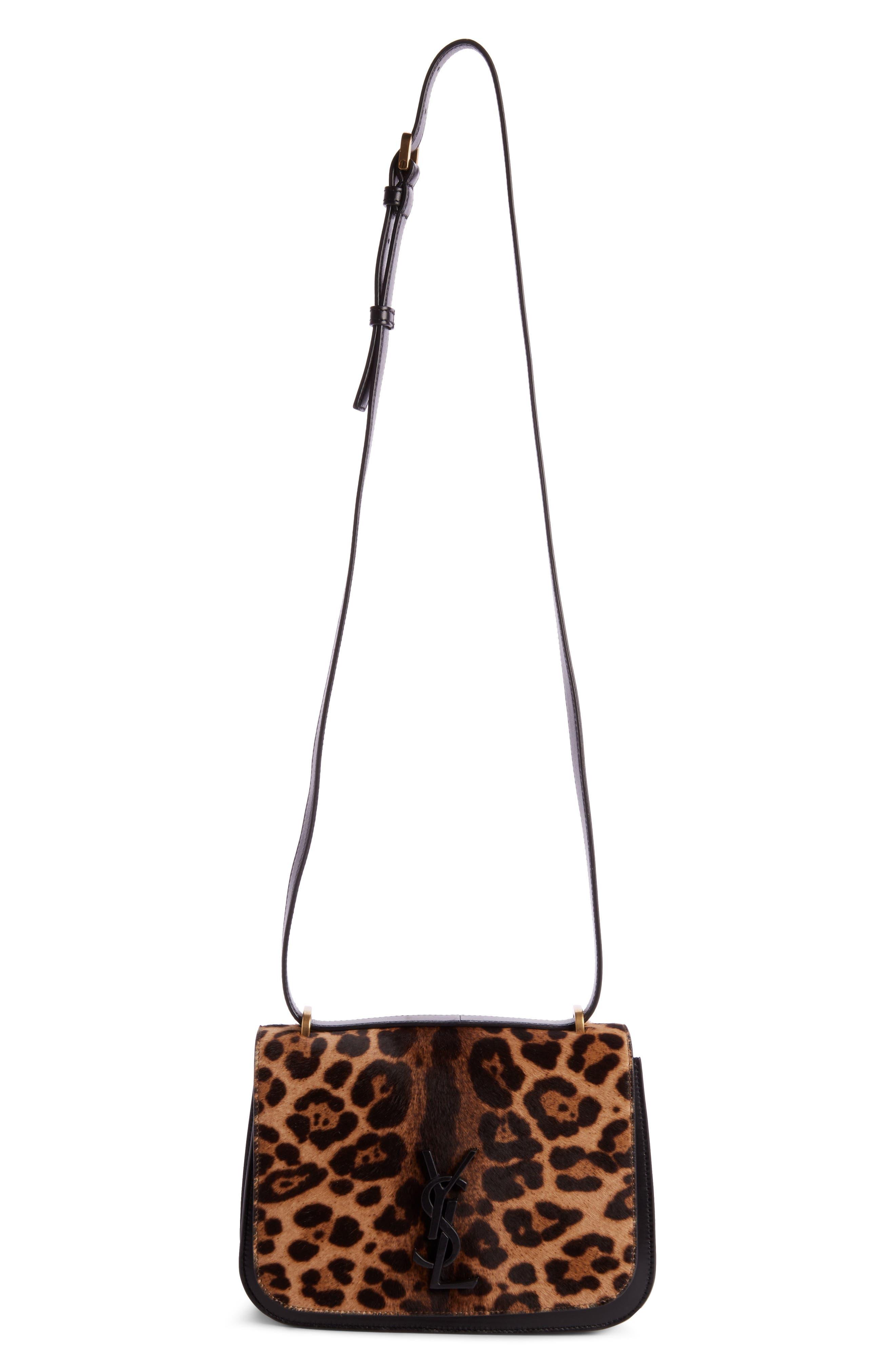 Saint Laurent Spontini Genuine Calf Hair Shoulder Bag