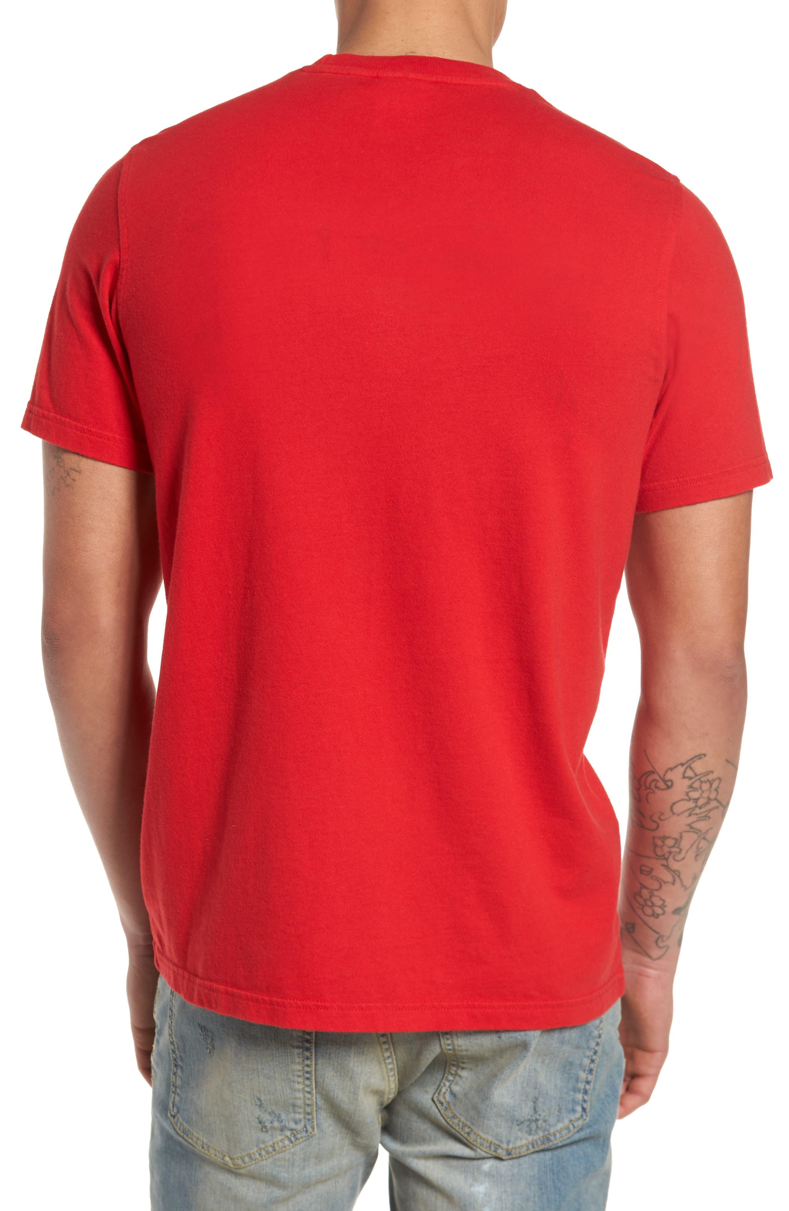 Trefoil T-Shirt,                             Alternate thumbnail 2, color,                             Scarle