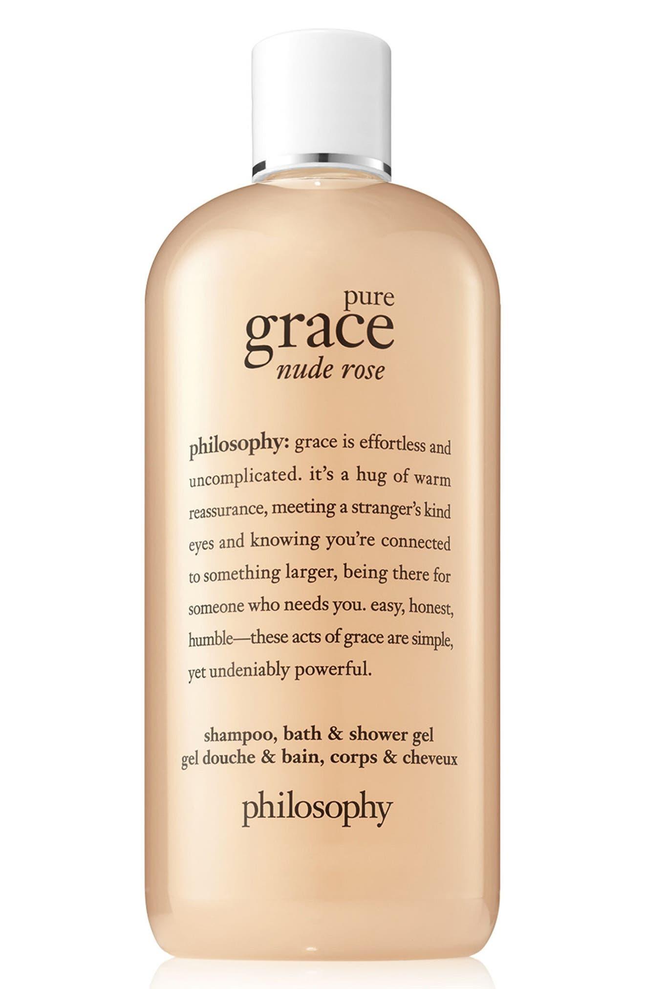 pure grace nude rose shampoo, bath & shower gel,                             Main thumbnail 1, color,                             No Color