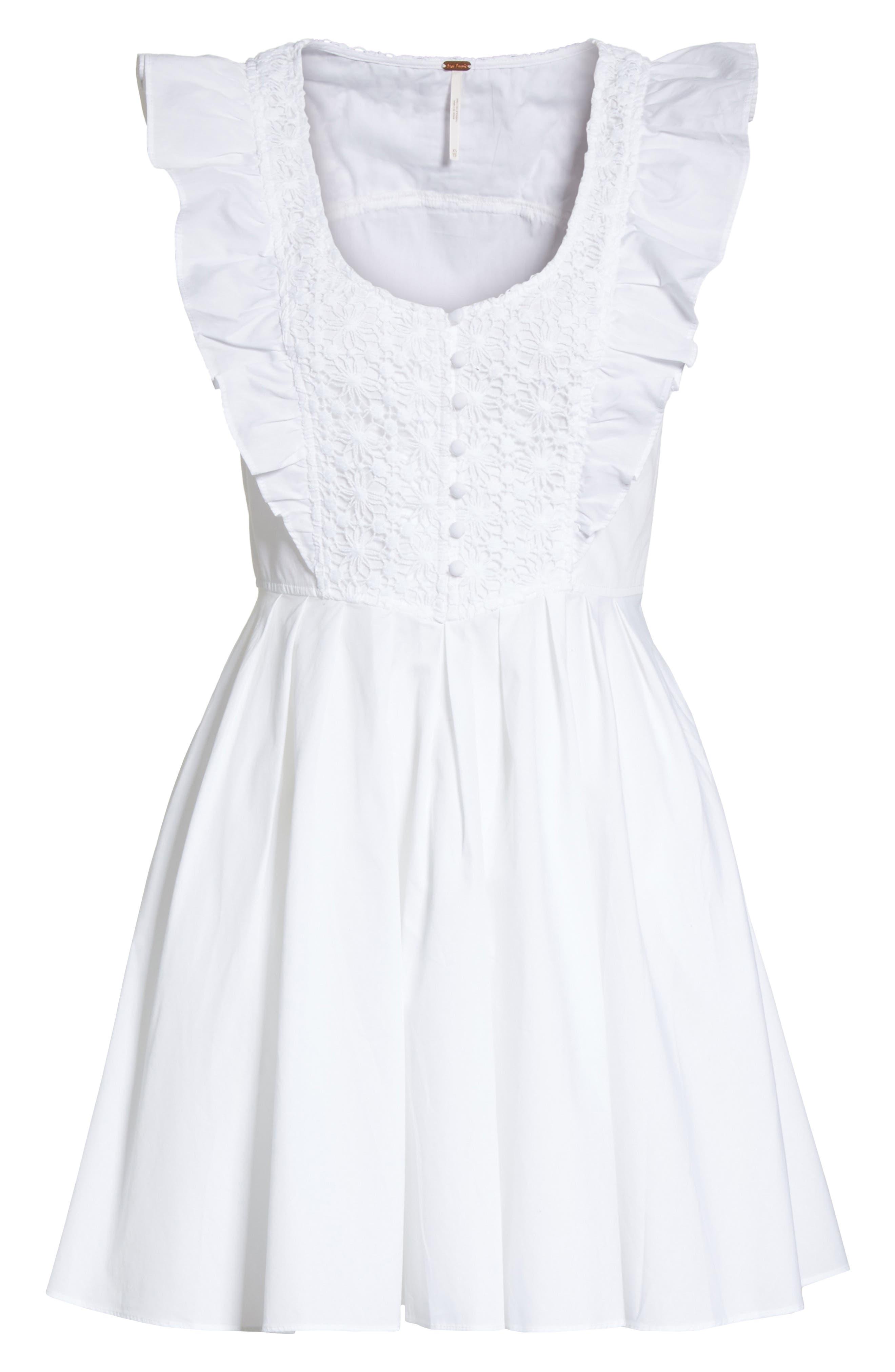 Half Moon Minidress,                             Alternate thumbnail 6, color,                             White