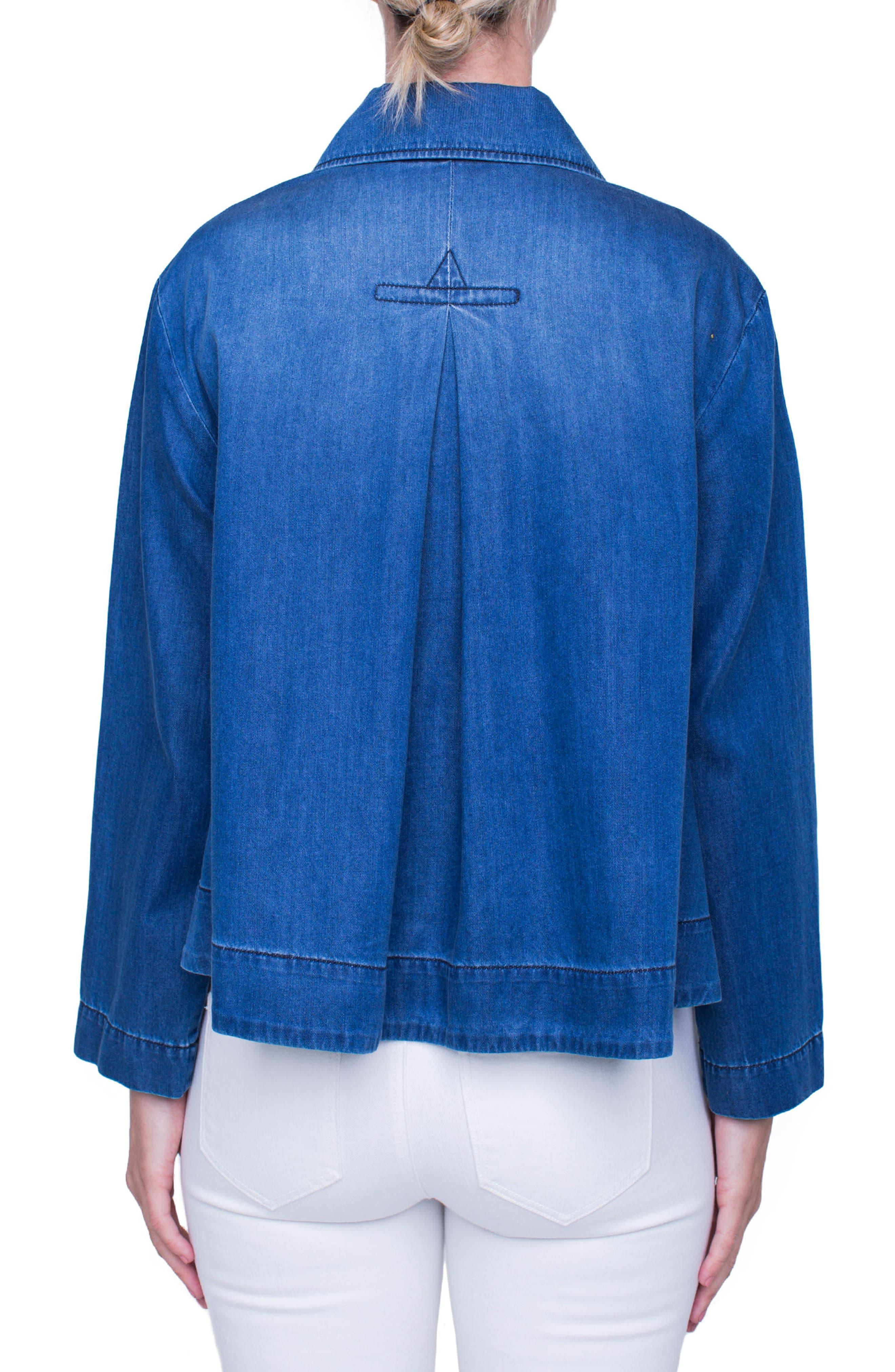 Trapeze Jacket,                             Alternate thumbnail 2, color,                             Belfast Wash