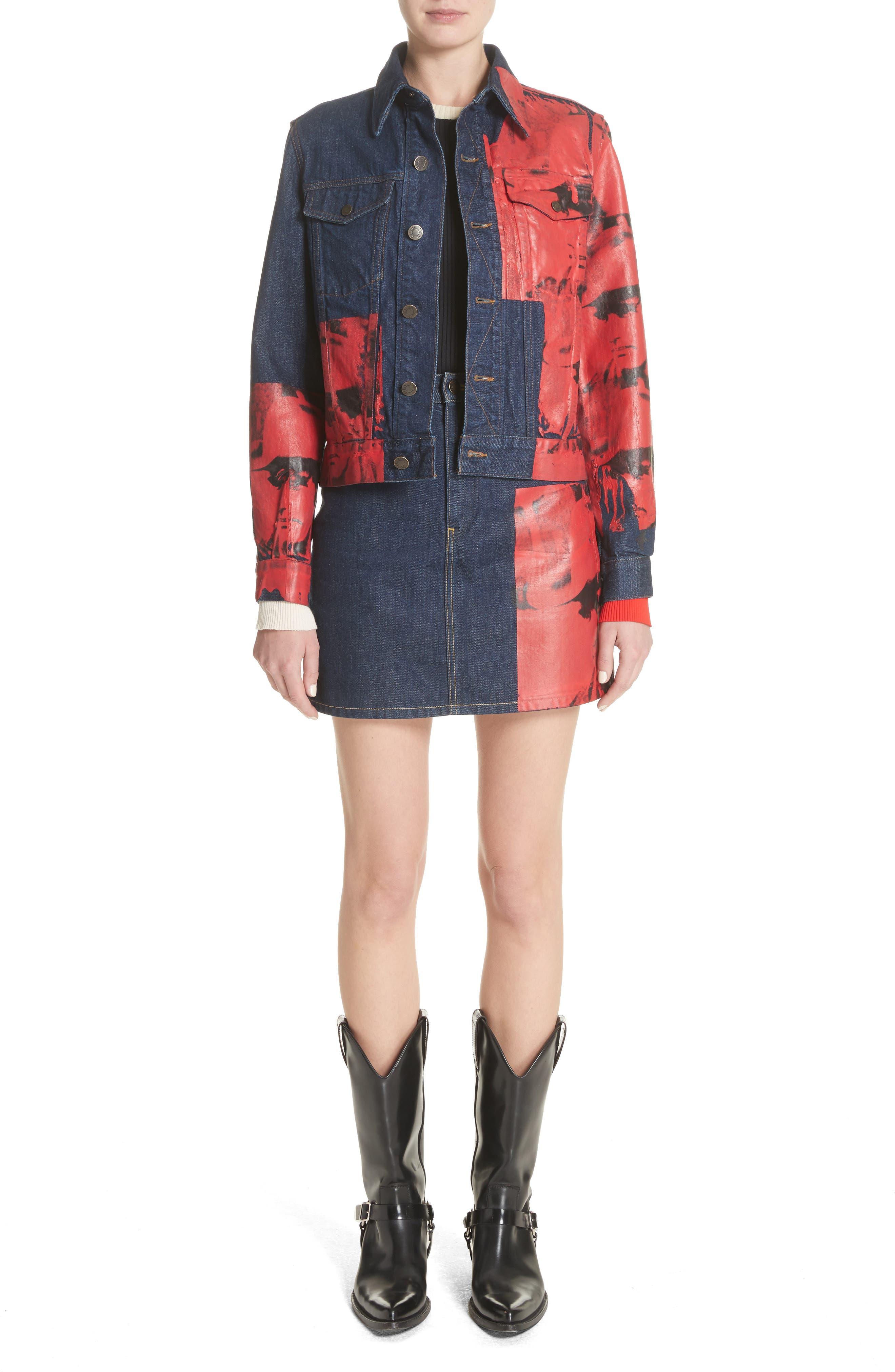 Alternate Image 8  - CALVIN KLEIN 205W39NYC x Andy Warhol Foundation Dennis Hopper Denim Skirt