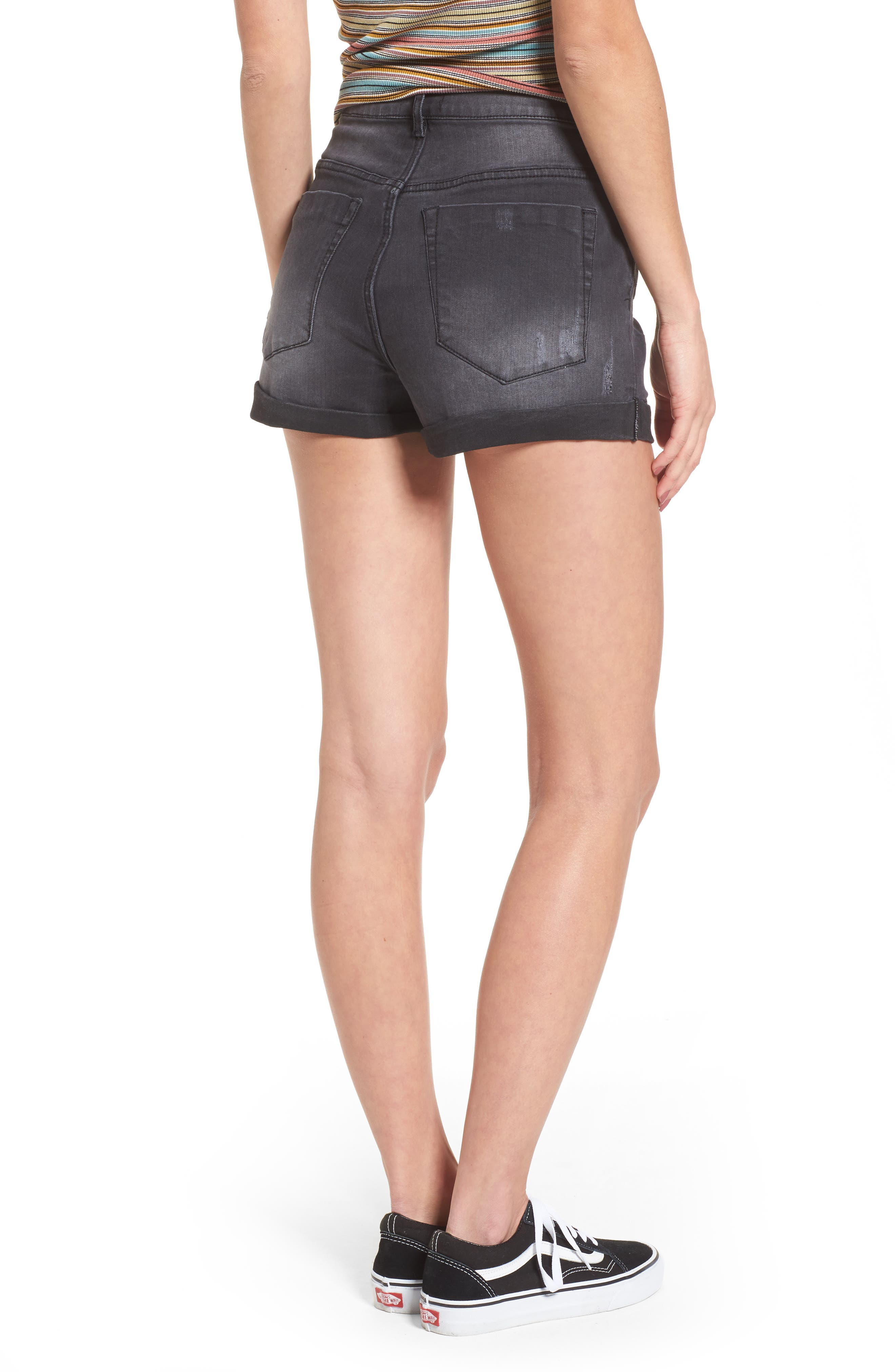 Alternate Image 2  - Lira Clothing Rachel High Waisted Denim Shorts