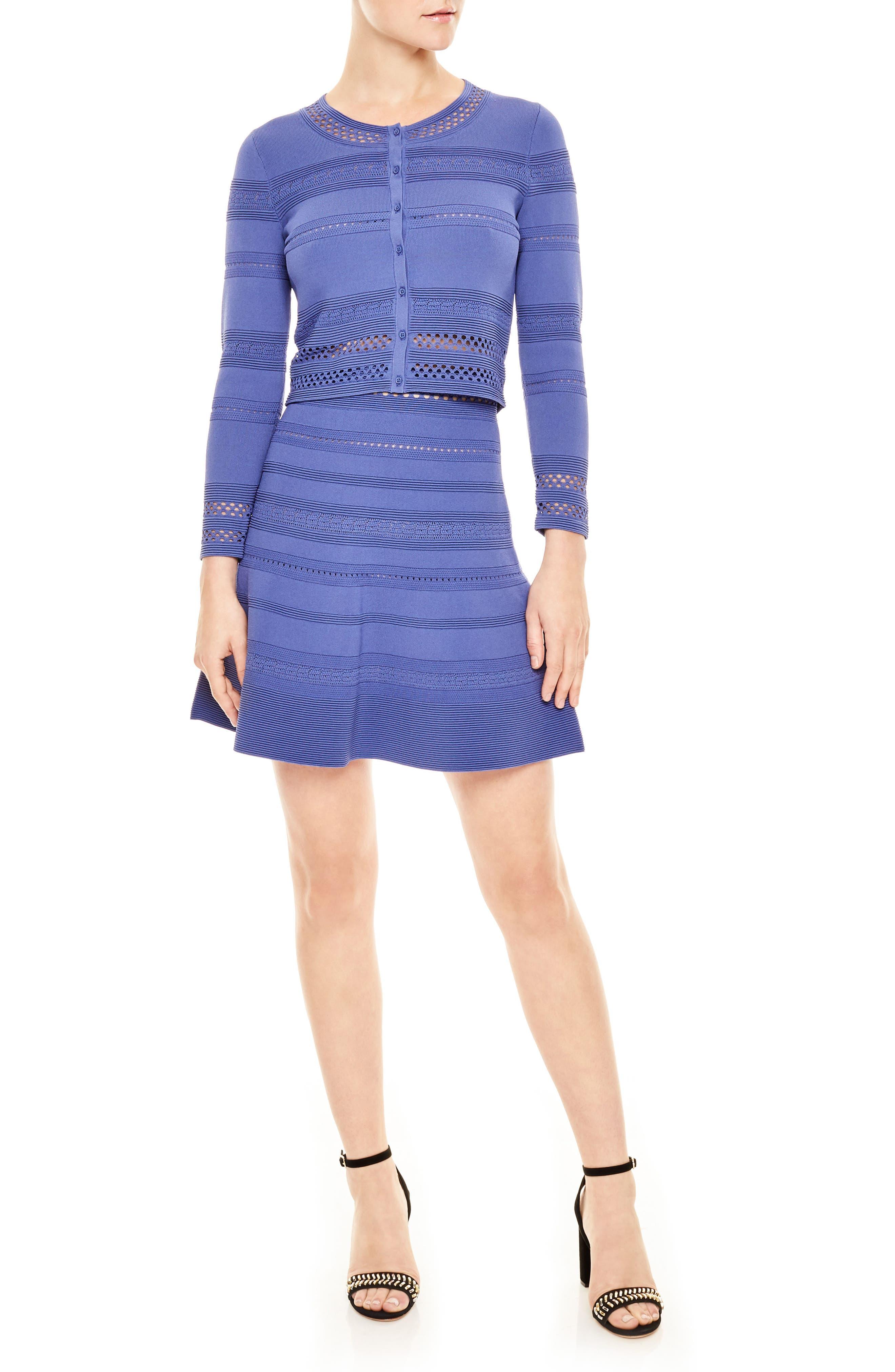 sandro Pointelle Skater Skirt