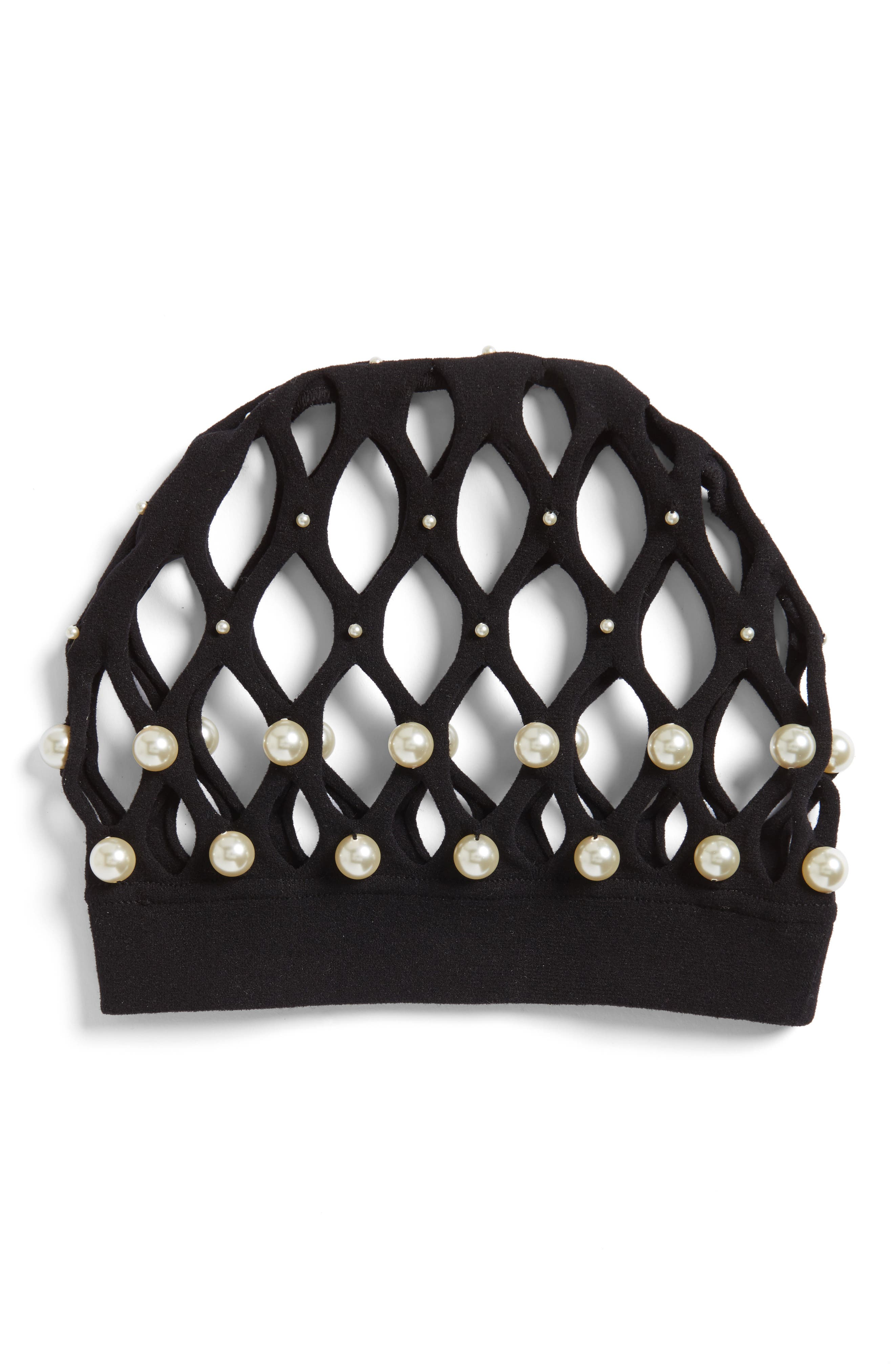 Gucci Imitation Pearl Hair Net