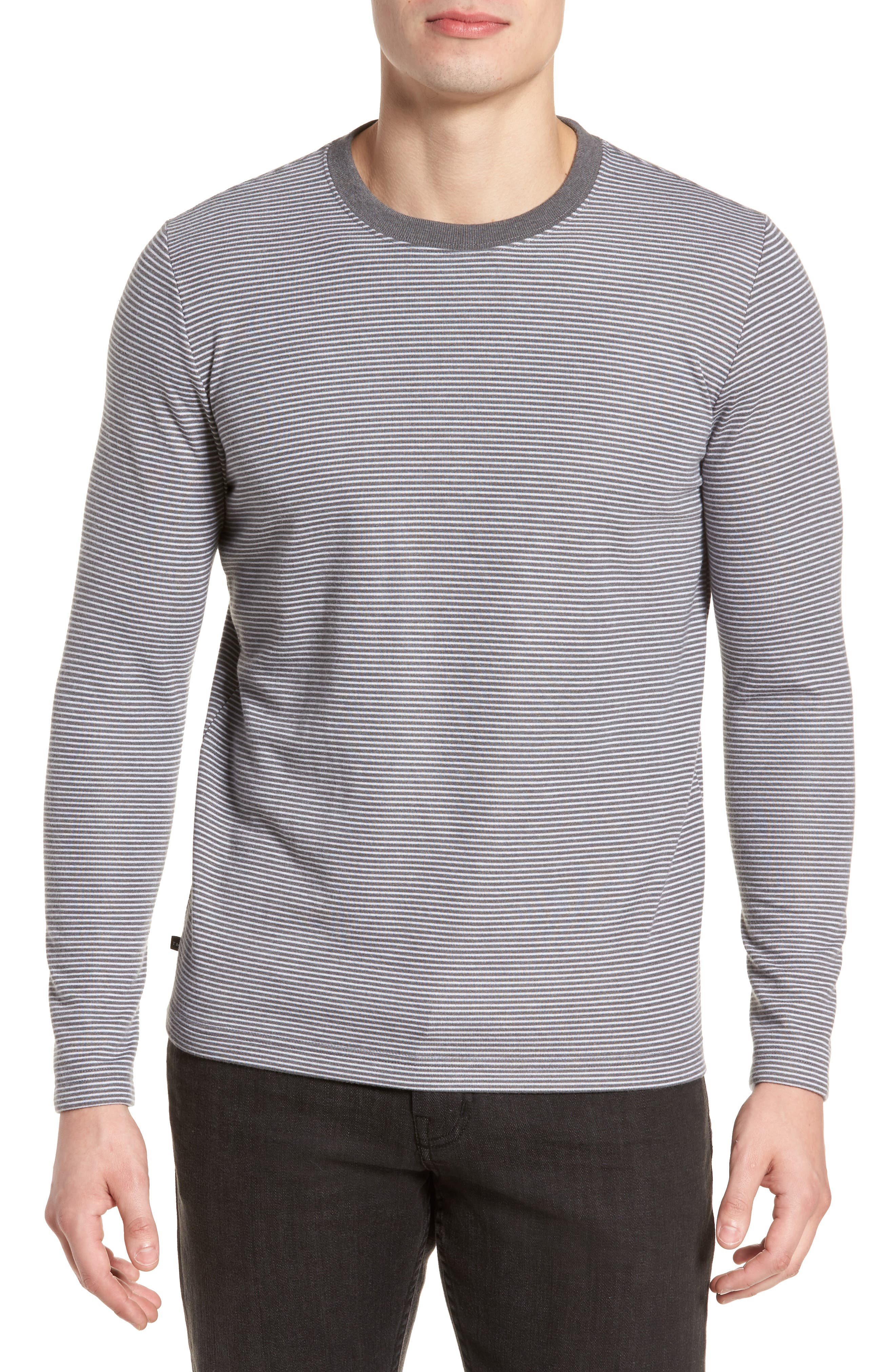 Outpost Stripe Pullover,                         Main,                         color, Quiet Shade