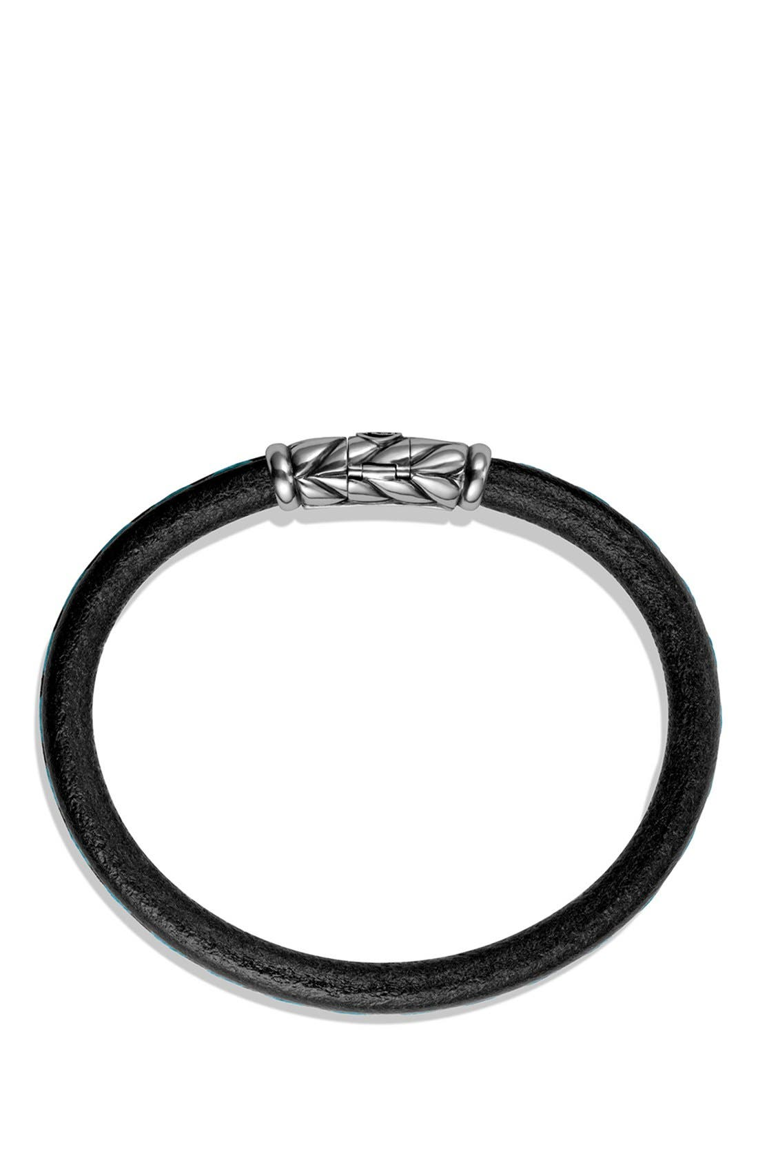 Alternate Image 2  - David Yurman 'Chevron' Leather Bracelet