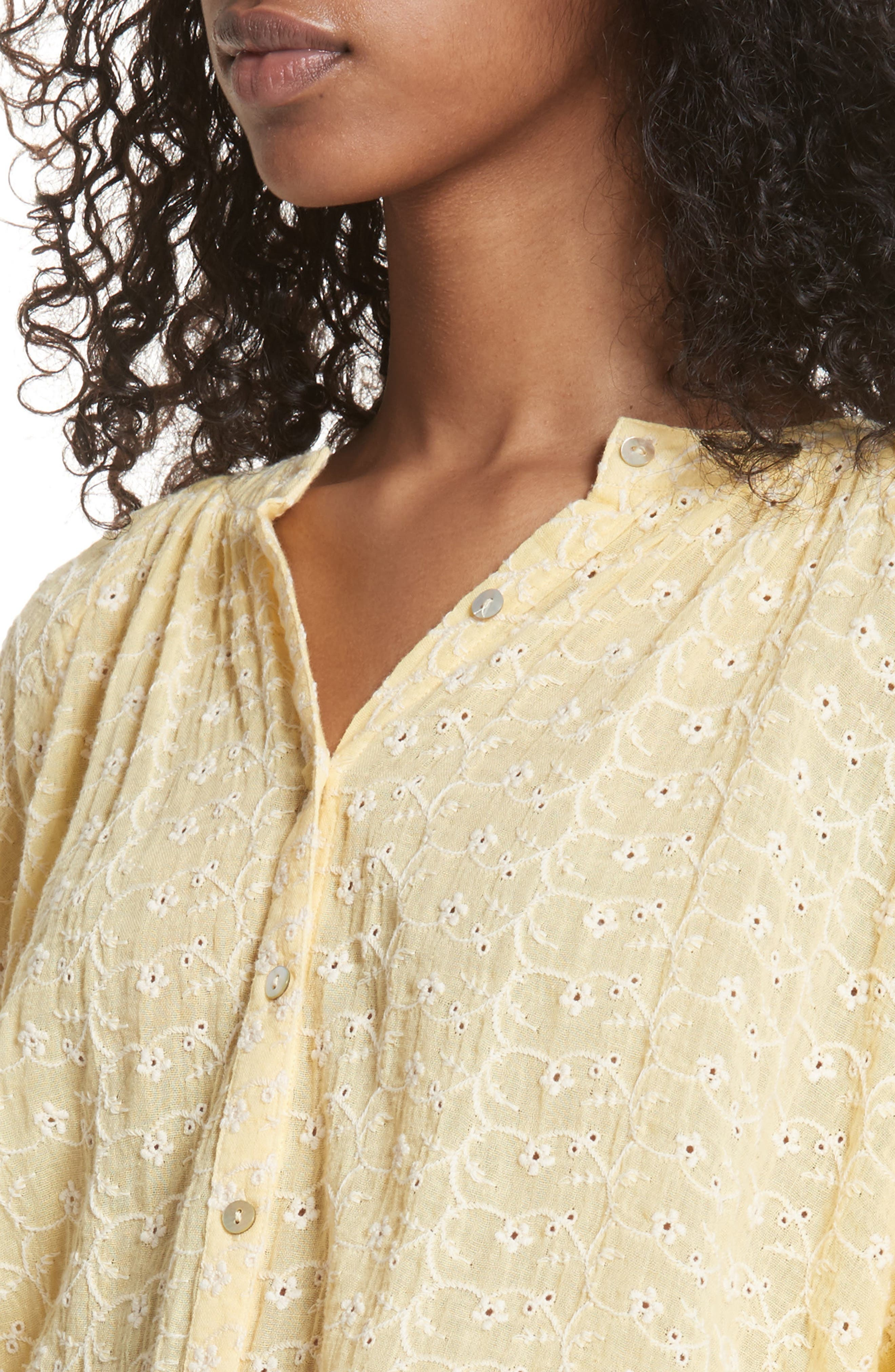 Down from the Clouds Peasant Top,                             Alternate thumbnail 5, color,                             Gold