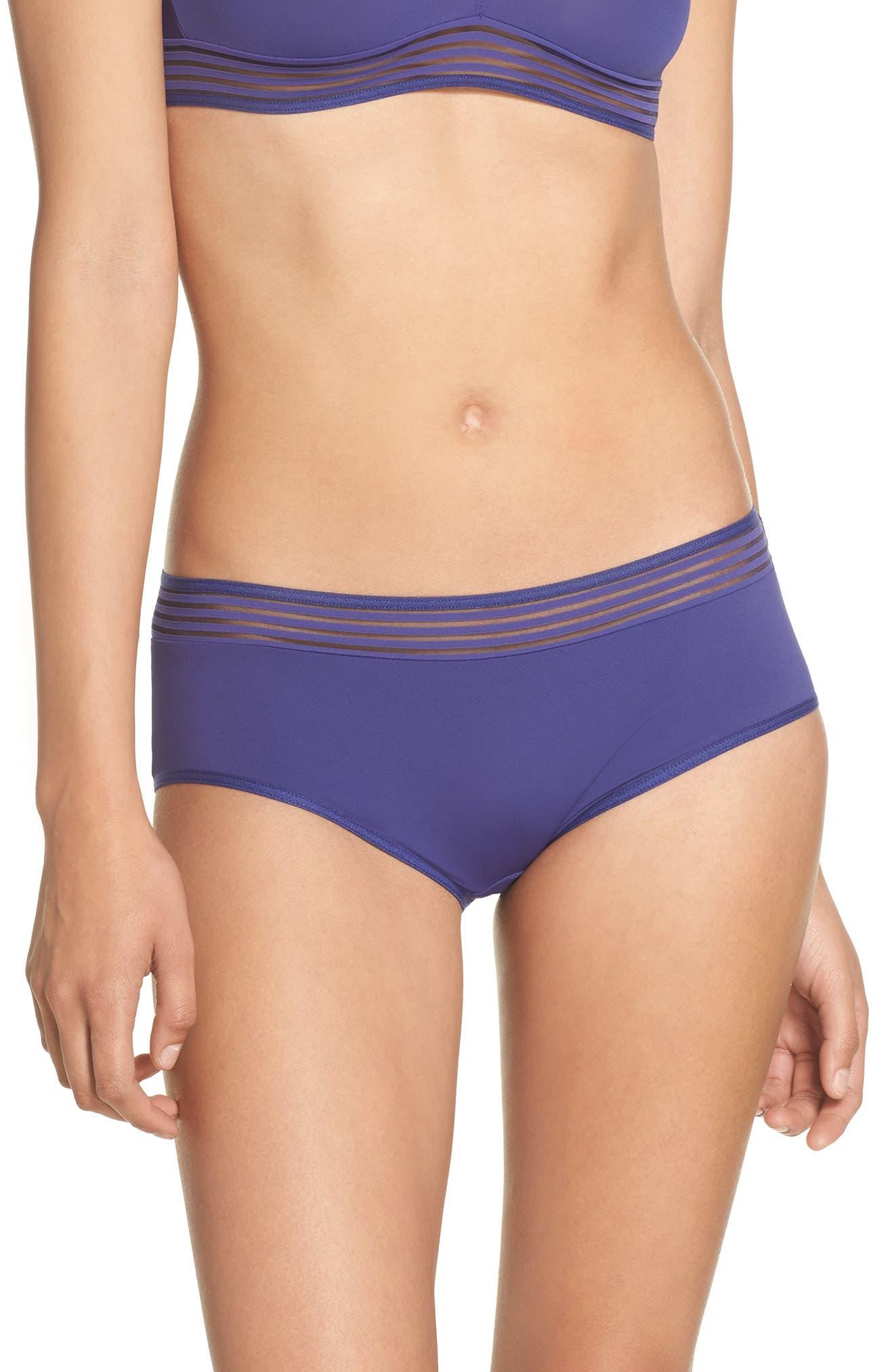 Cara Hipster Panties,                         Main,                         color, Violet Blue
