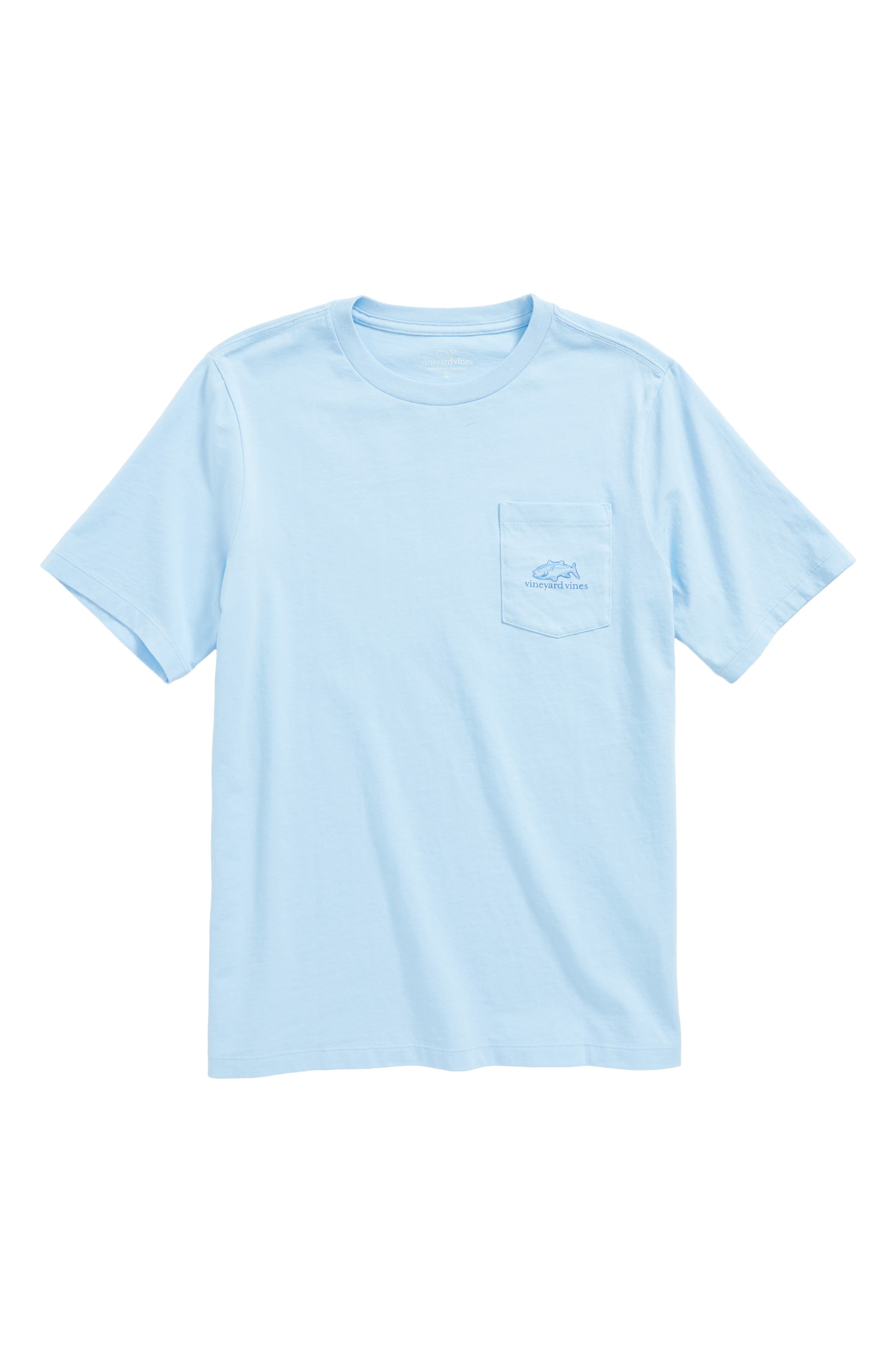 Main Image - vineyard vines Tuna in Coral Whale Pocket T-Shirt (Big Boys)