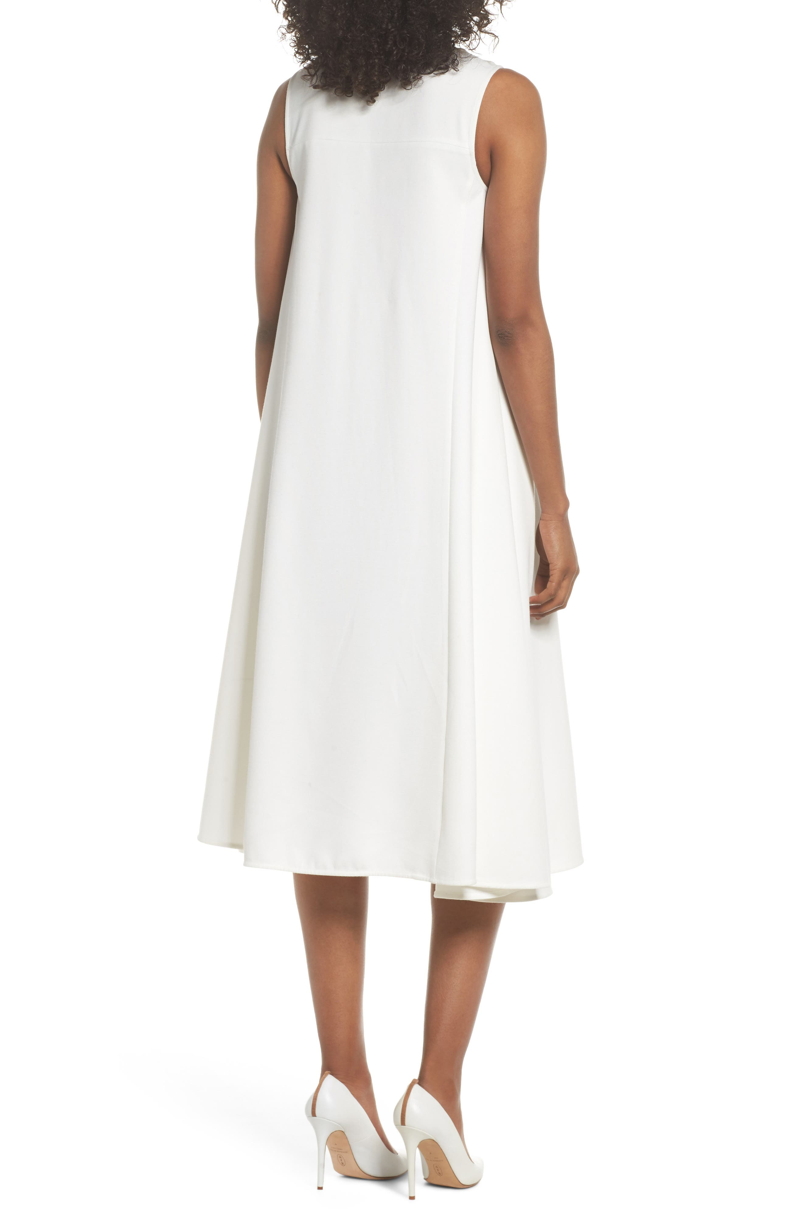 Sunday Brunch Sleeveless Midi Dress,                             Alternate thumbnail 2, color,                             White