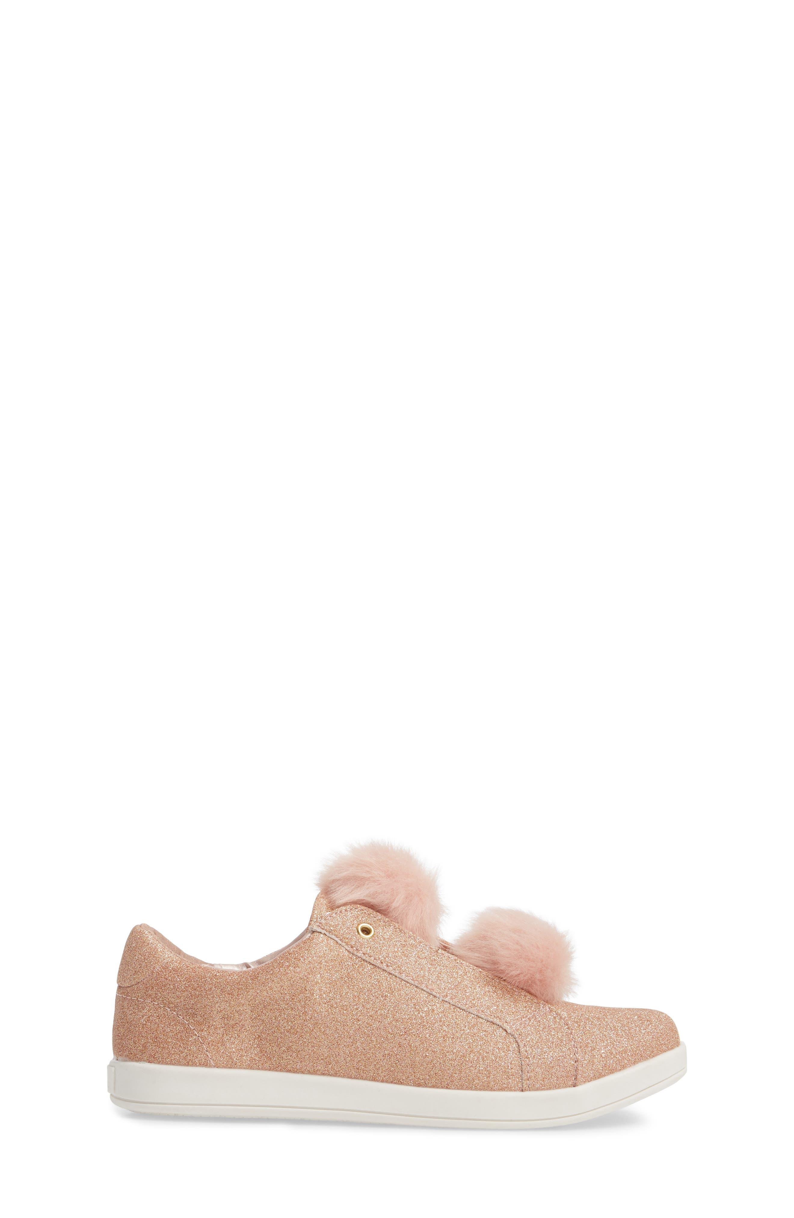 Alternate Image 3  - Sam Edelman Cynthia Leya Faux Fur Pompom Slip-On Sneaker (Toddler, Little Kid & Big Kid)