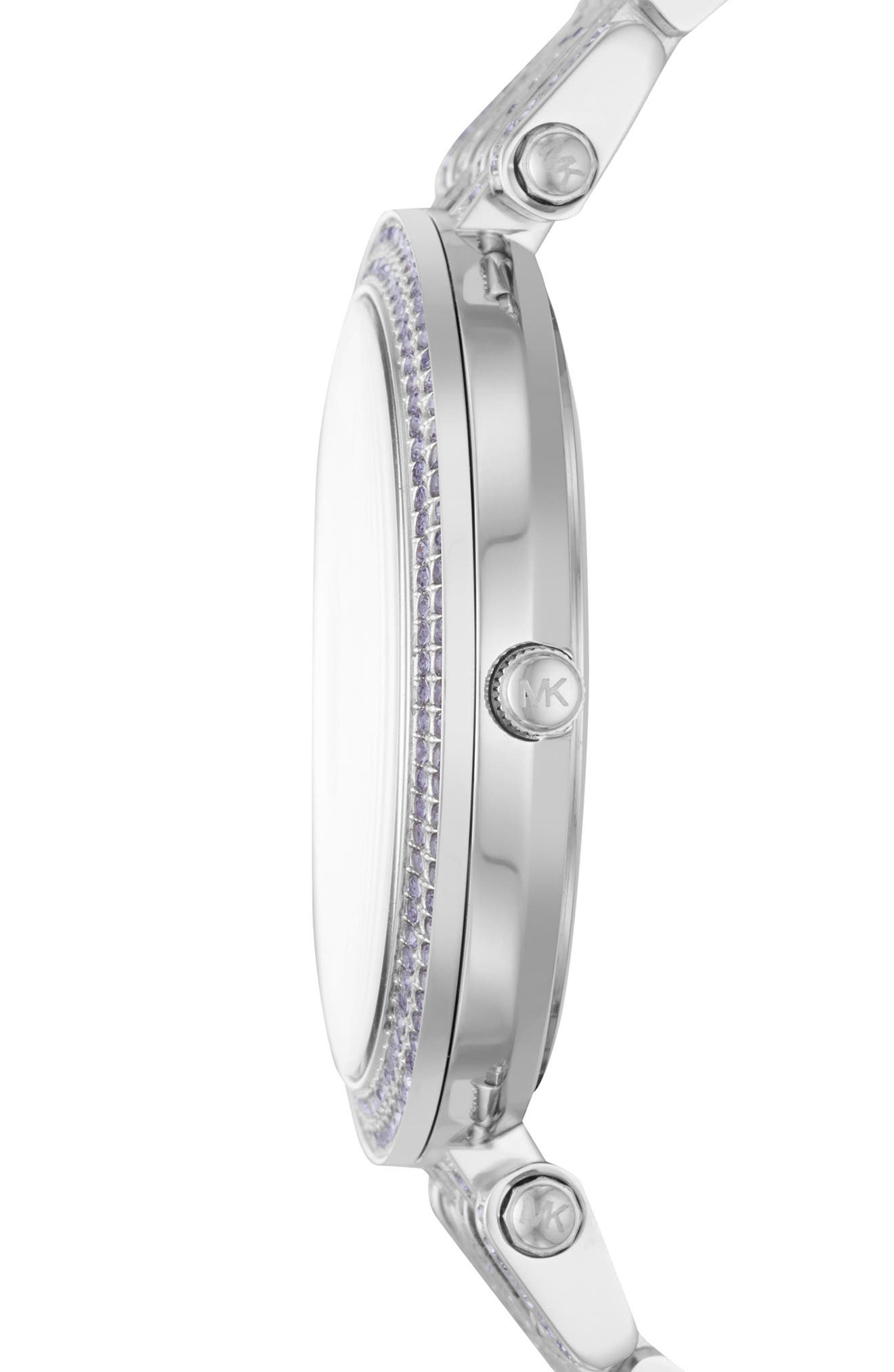 Darci Crystal Bracelet Watch, 39mm,                             Alternate thumbnail 2, color,                             Silver/ White/ Silver