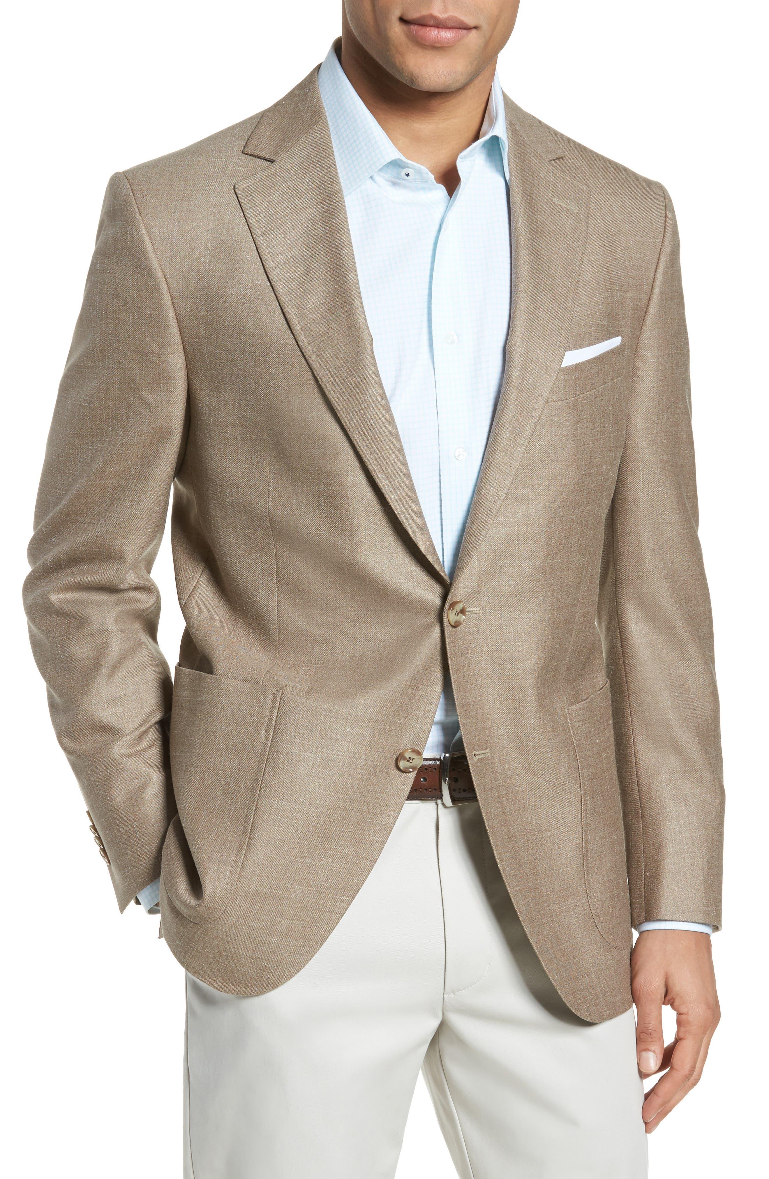Classic Fit Wool Blend Blazer,                             Main thumbnail 1, color,                             Tan