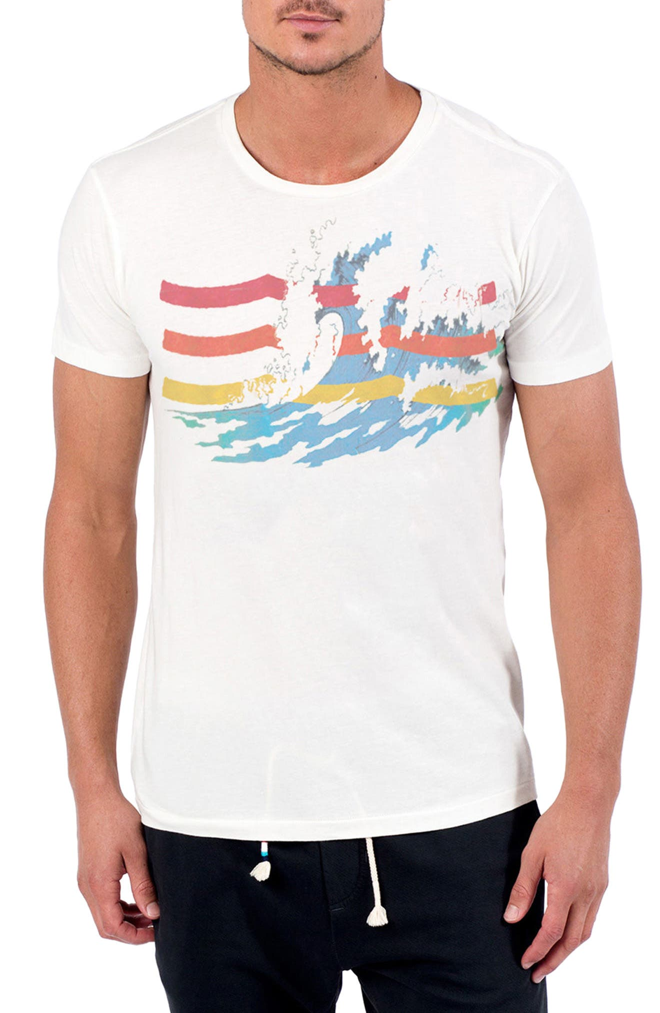The Great Wave T-Shirt,                             Main thumbnail 1, color,                             D White