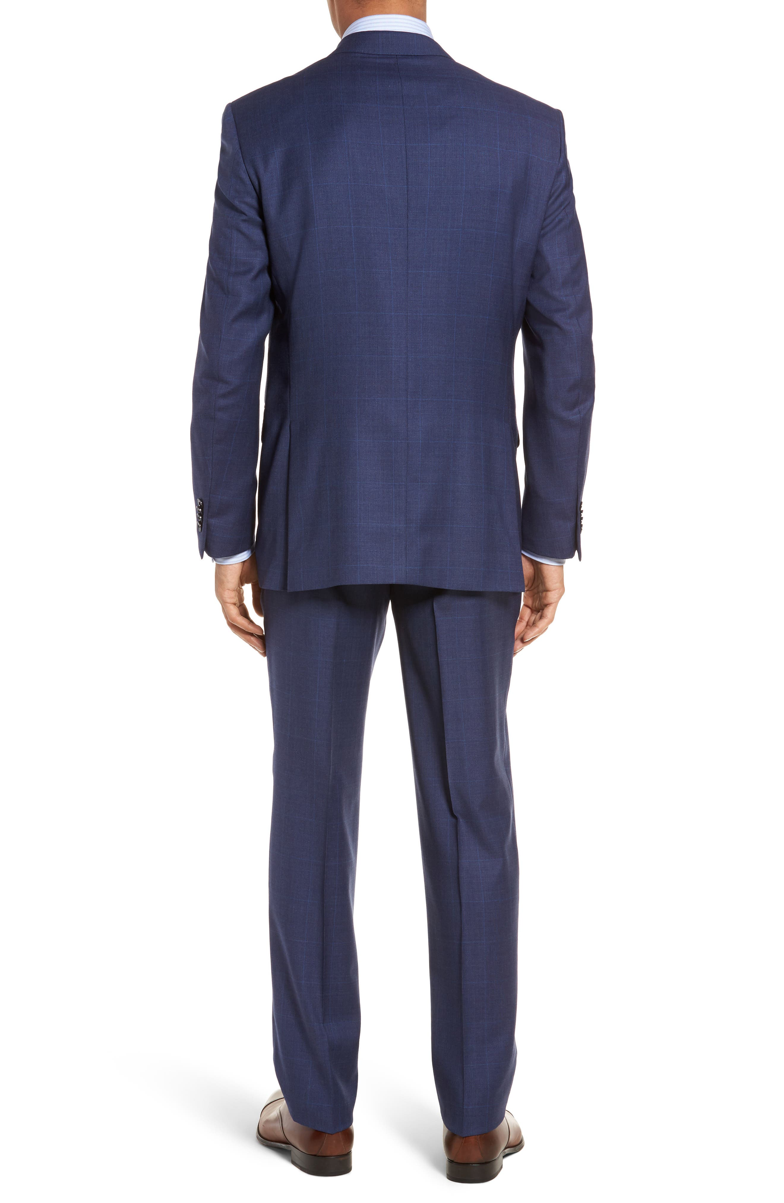 Classic Fit Plaid Wool Suit,                             Alternate thumbnail 2, color,                             Blue