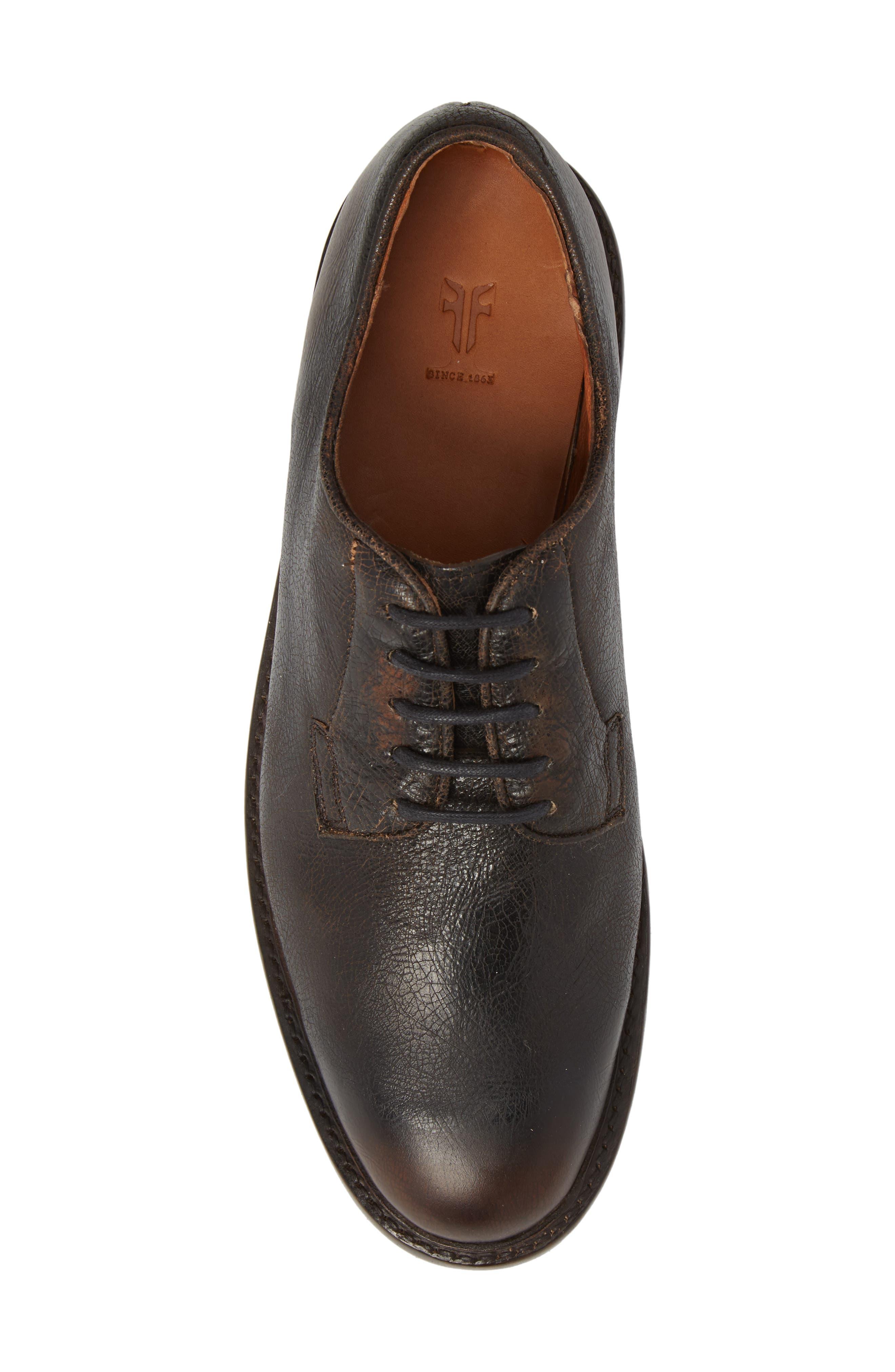 Jones Plain Toe Derby,                             Alternate thumbnail 5, color,                             Dark Brown Leather